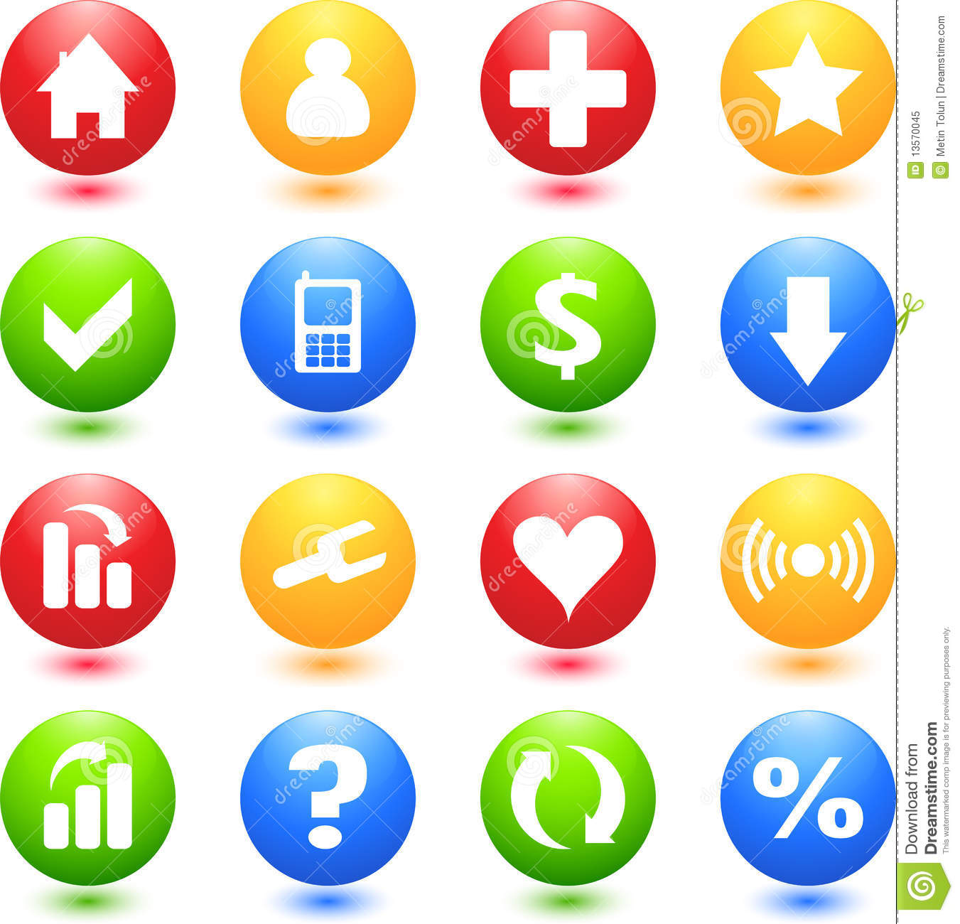 Colored Web Sign Icons Royalty Free Stock Photo Image
