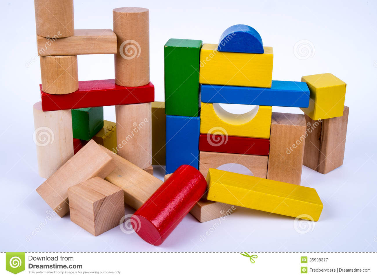 Colored Wooden Toy Blocks Royalty Free Stock Photography - Image ...