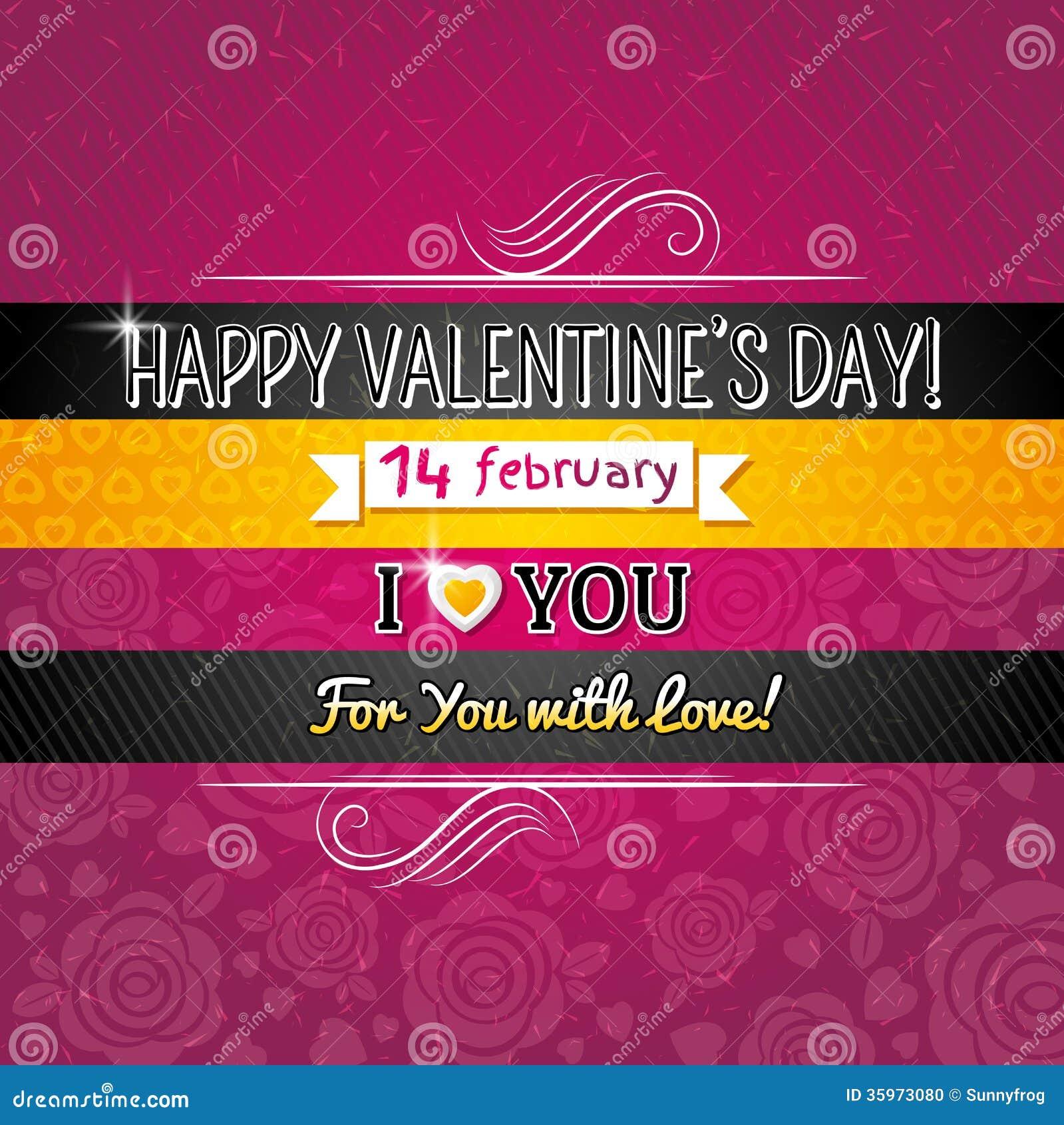 Coloree el fondo con el corazón de la tarjeta del día de San Valentín y desea t