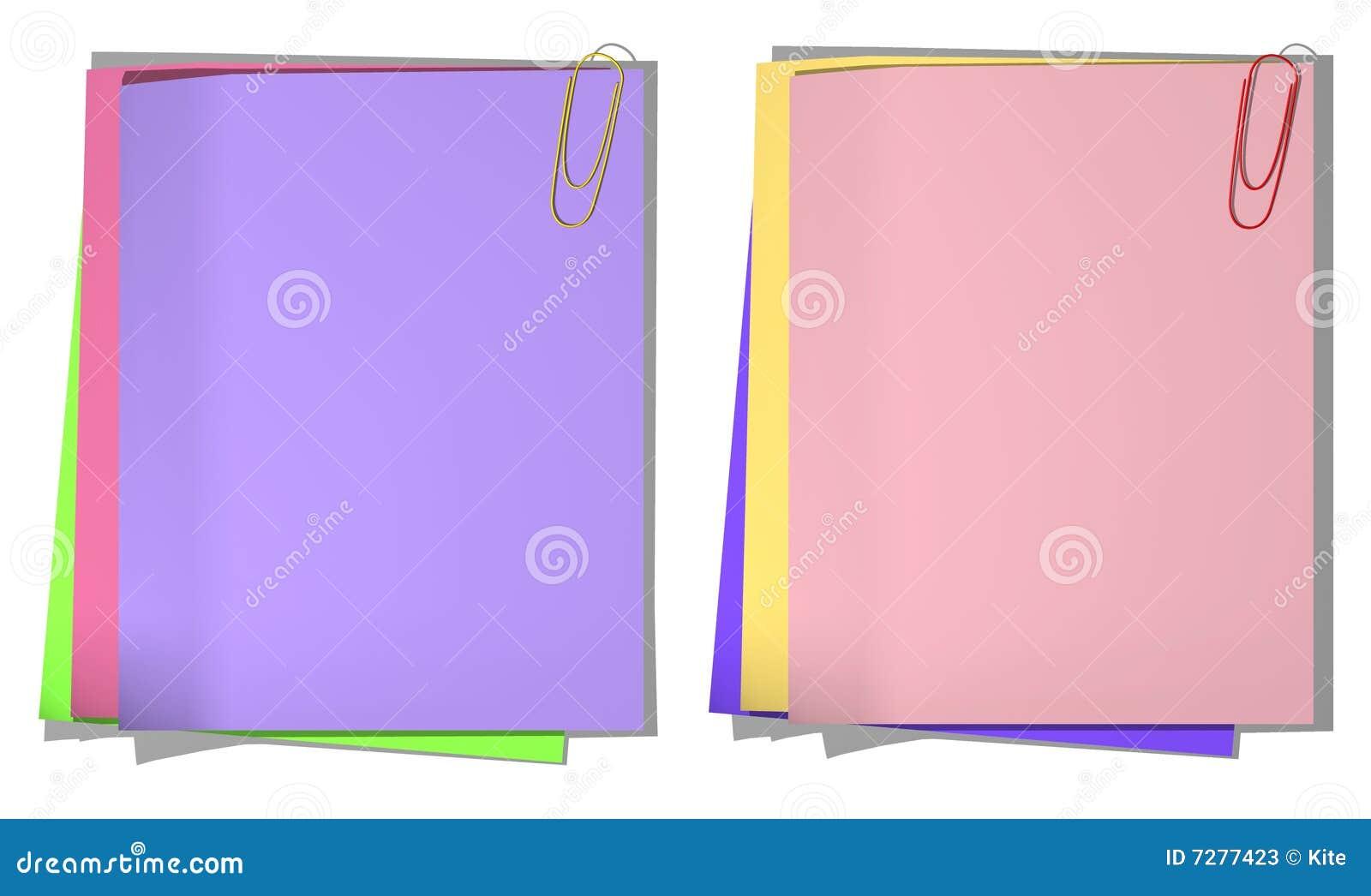 Coloree las hojas de un papel para el expediente 01
