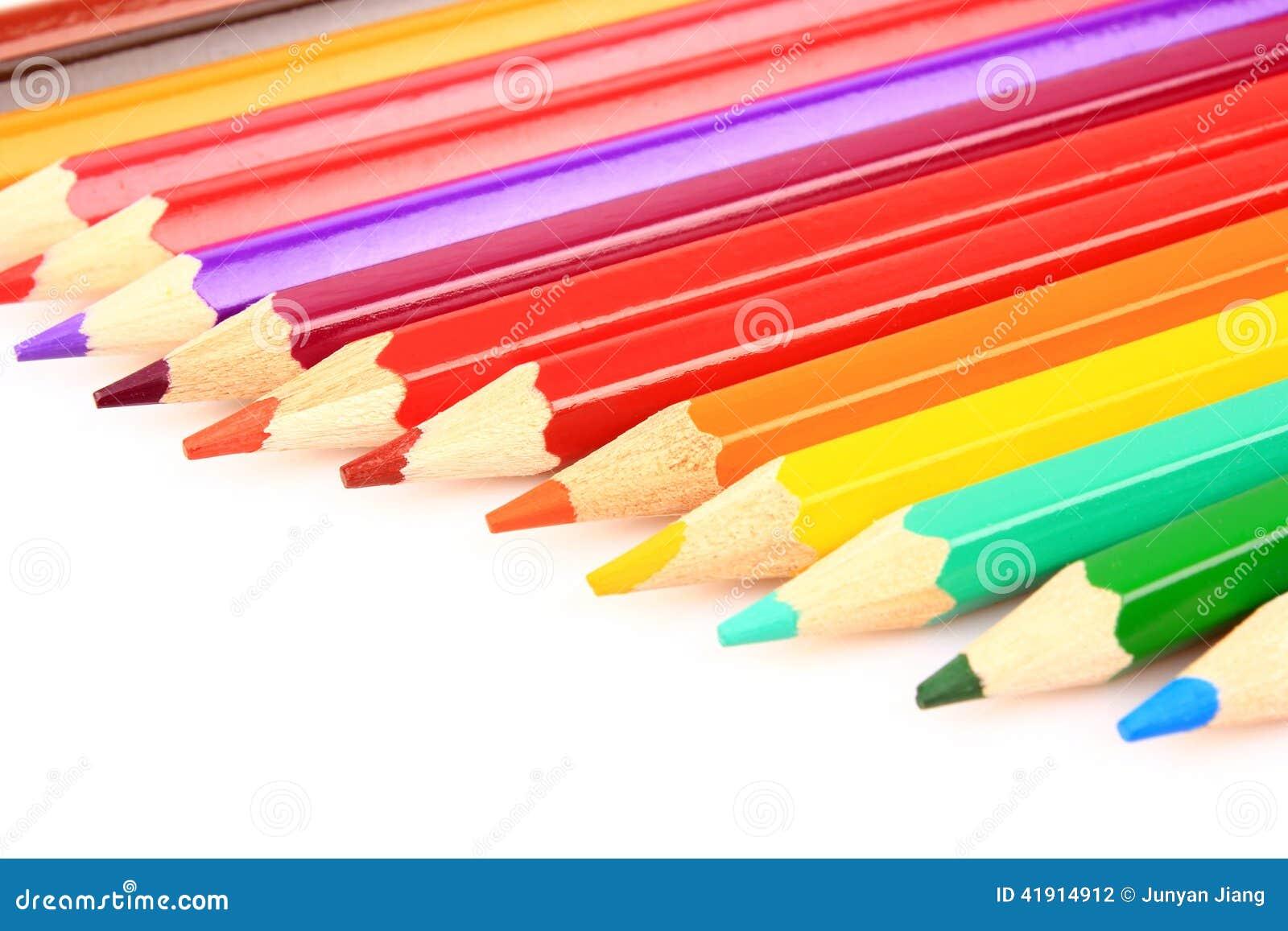 Coloree los lápices