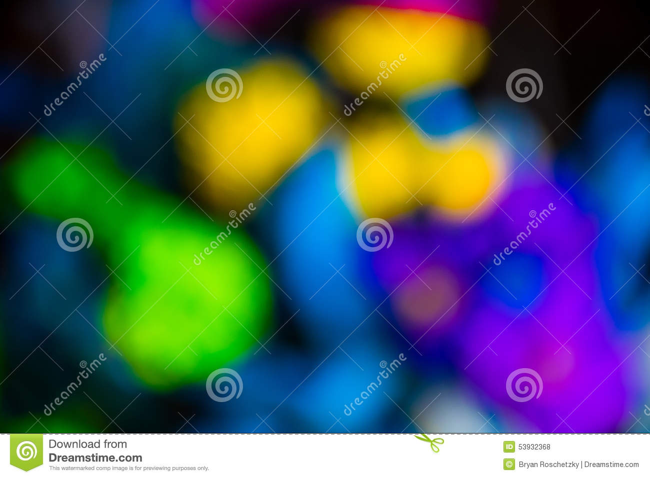 Colores brillantes fluorescentes abstractos de las flores Blurred