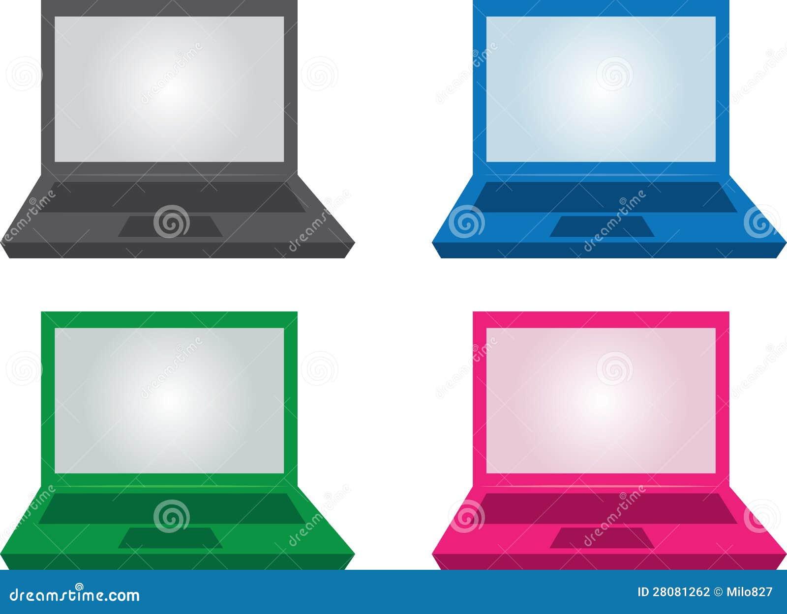 Colores De La Computadora Portátil Stock De Ilustración