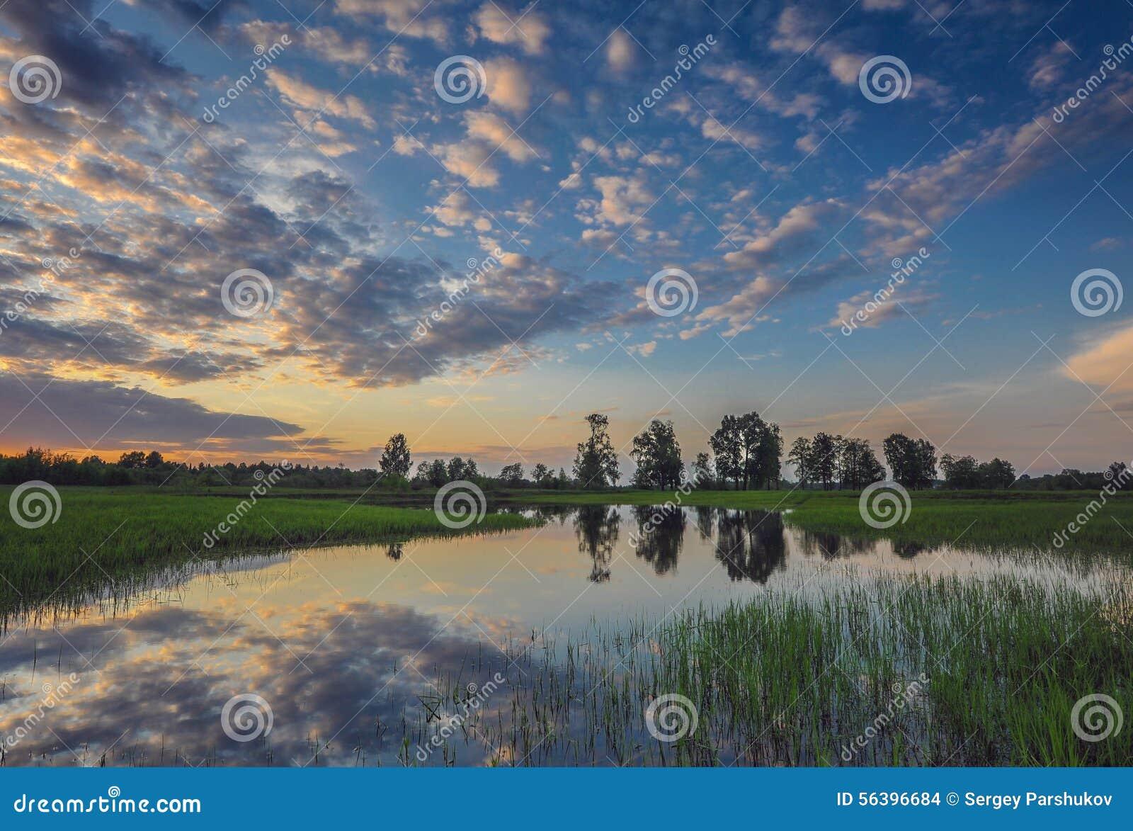 Colores de la tarde del cielo