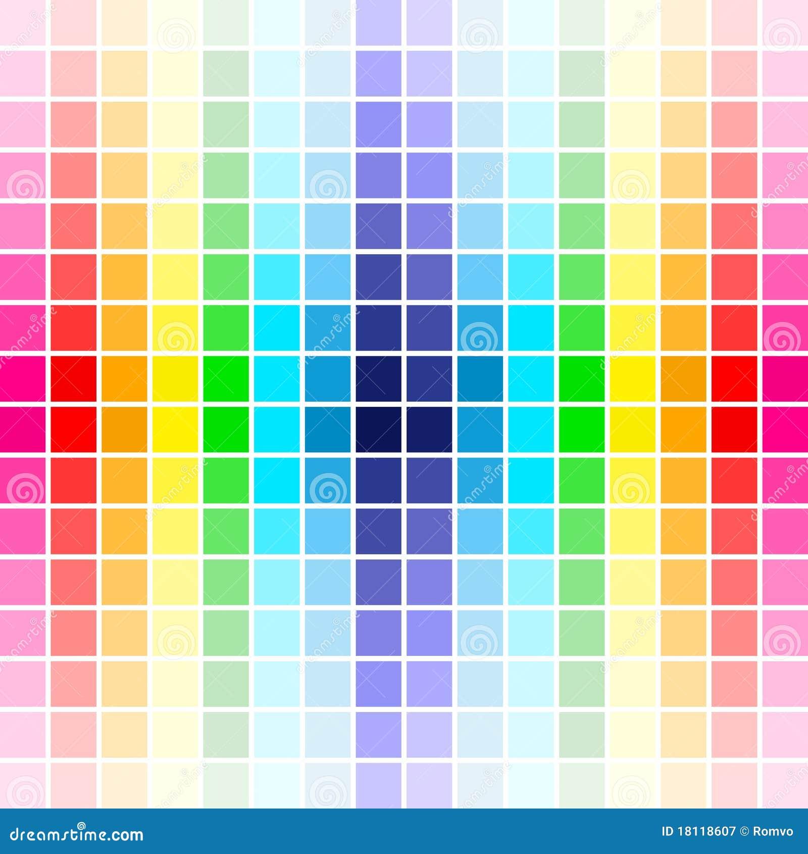 Colores del arco iris de la gama de colores ilustraci n - Gama de verdes ...