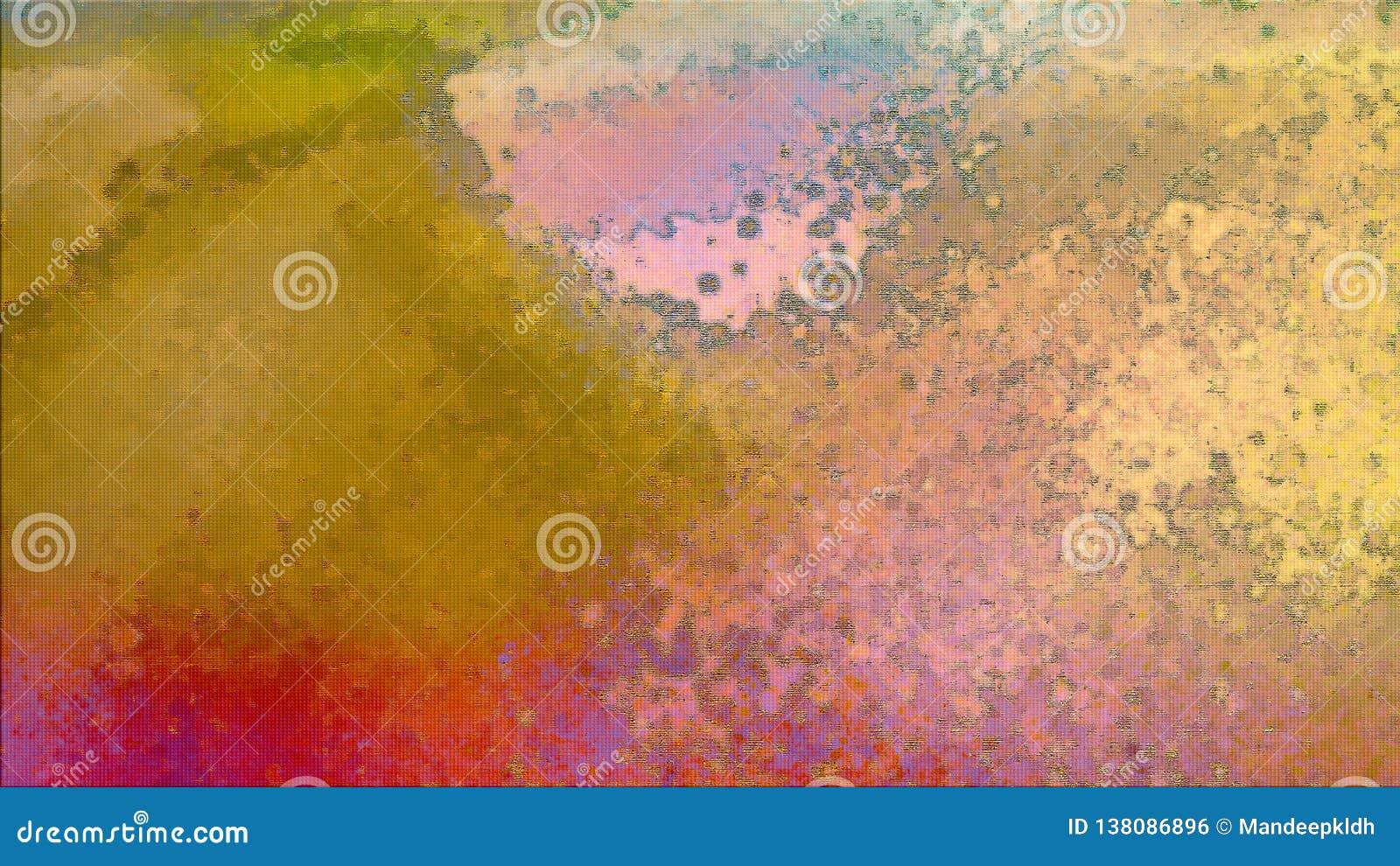 Colores del arco iris Fondo pintado a mano abstracto Movimientos de pintura de acrílico en lona Arte moderno efectos 3D