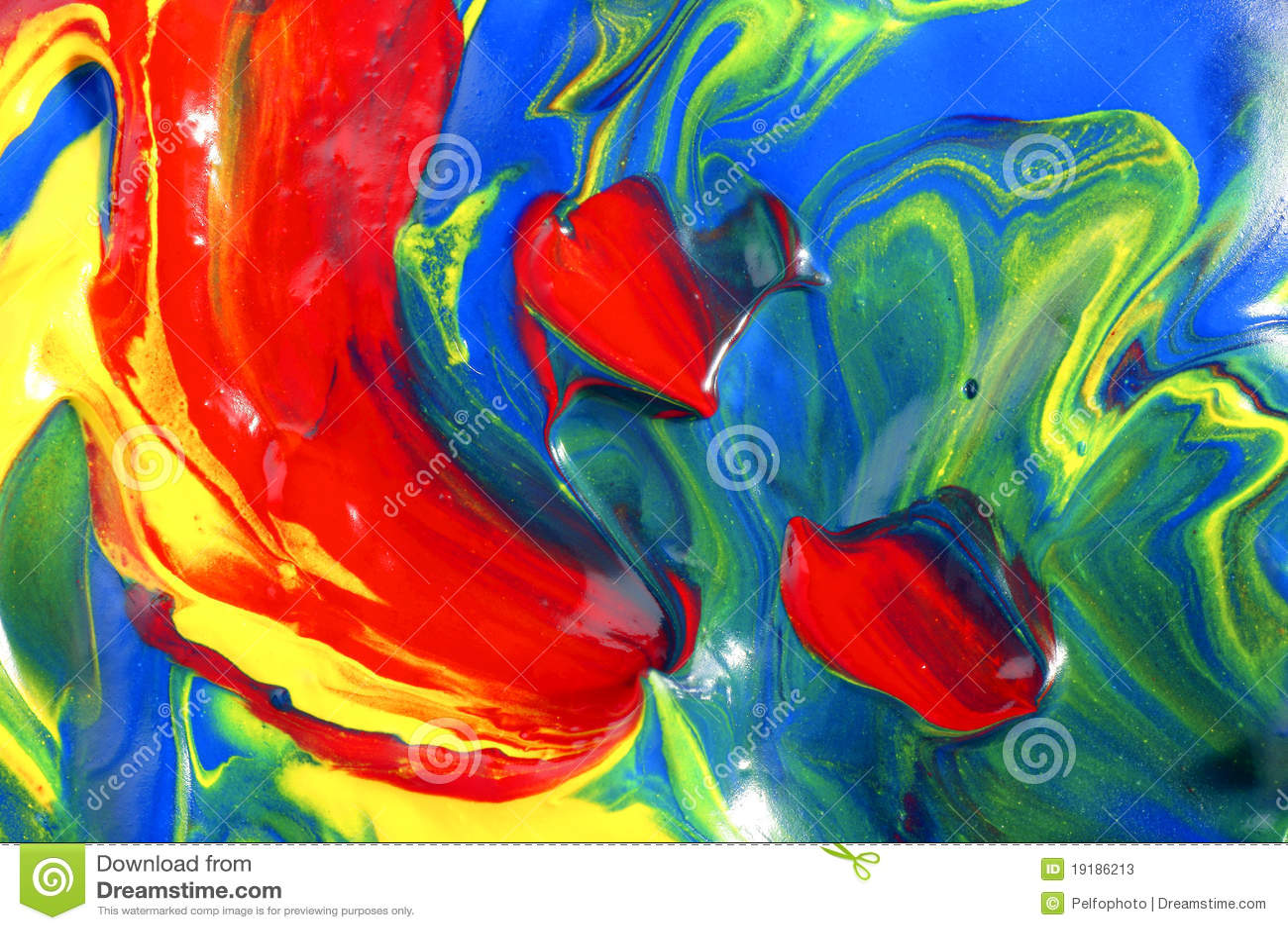 Colores Mezclados Imagen De Archivo. Imagen De Color