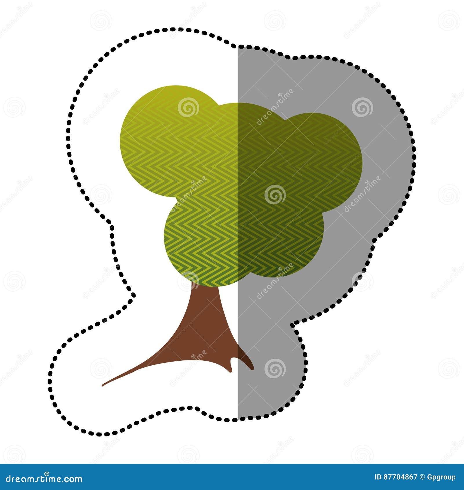Colorez l icône créative d arbre d autocollant