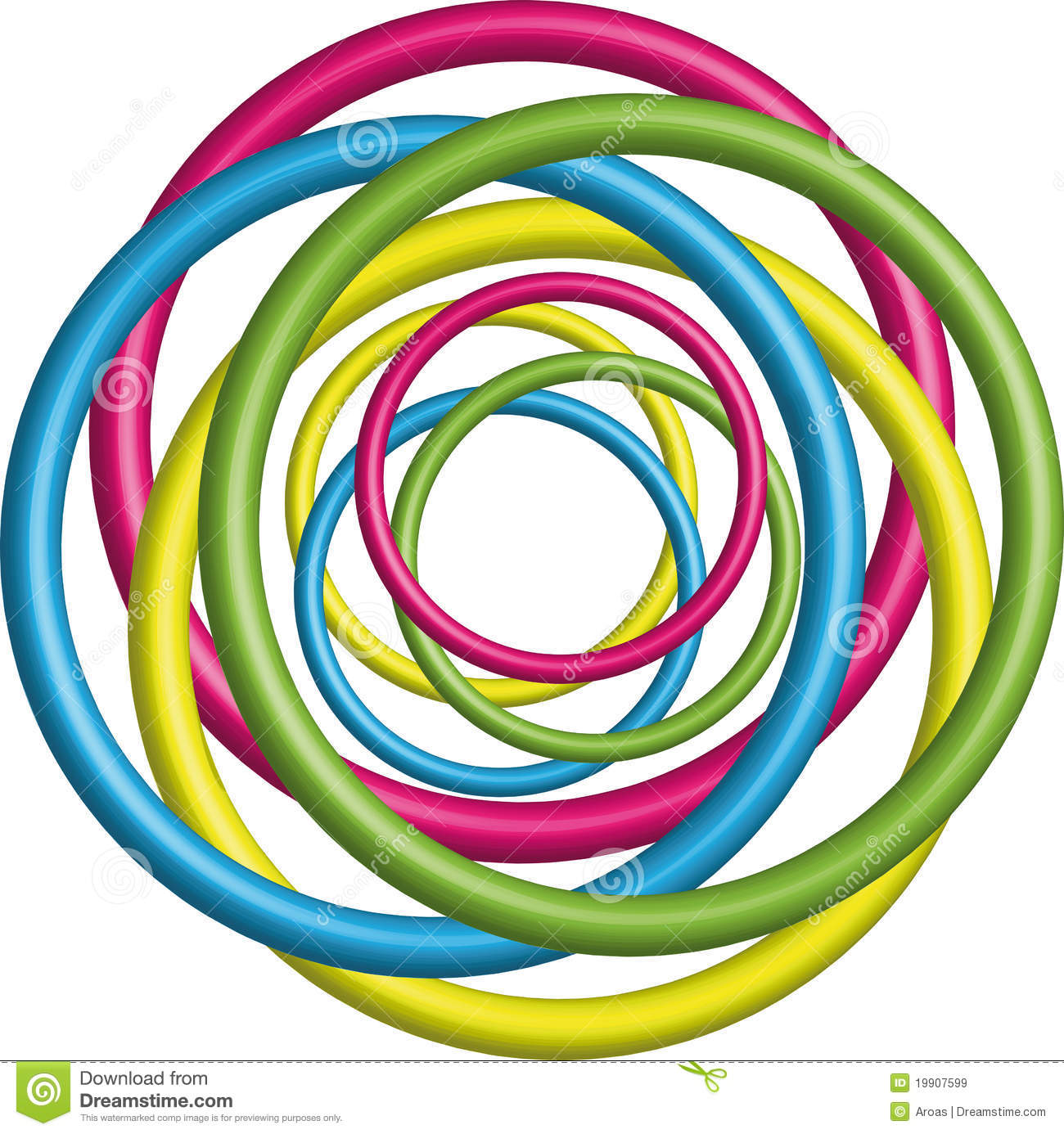 Colorful 3d Circle Background Royalty Free Stock Images