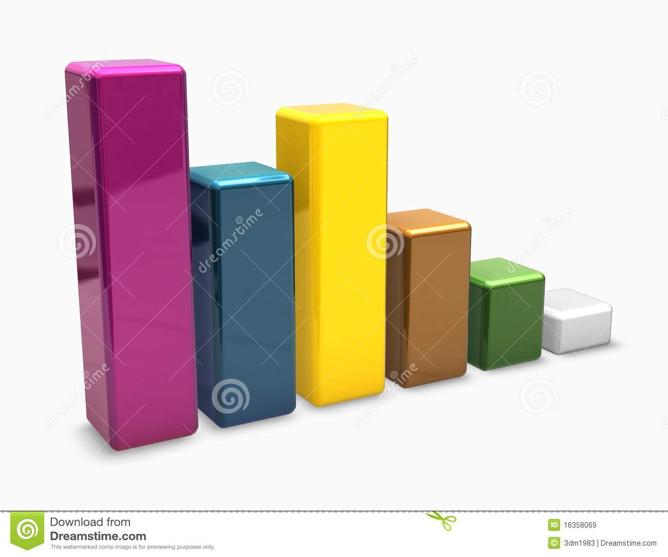 Colorful 3d graph bars stock illustration illustration of for Grafica 3d gratis