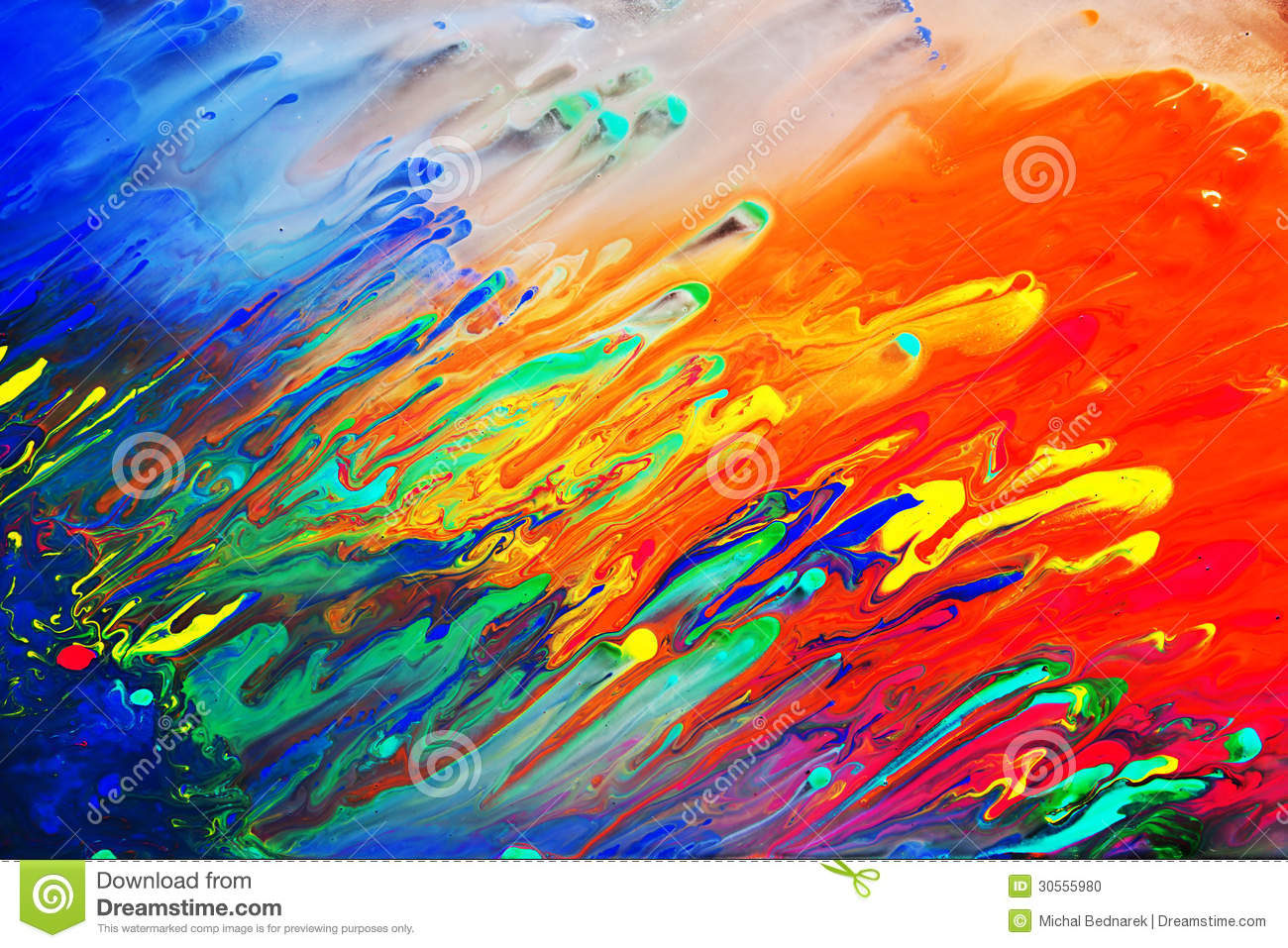Colorful Abstract Acrylic Painting Stock Photo Image