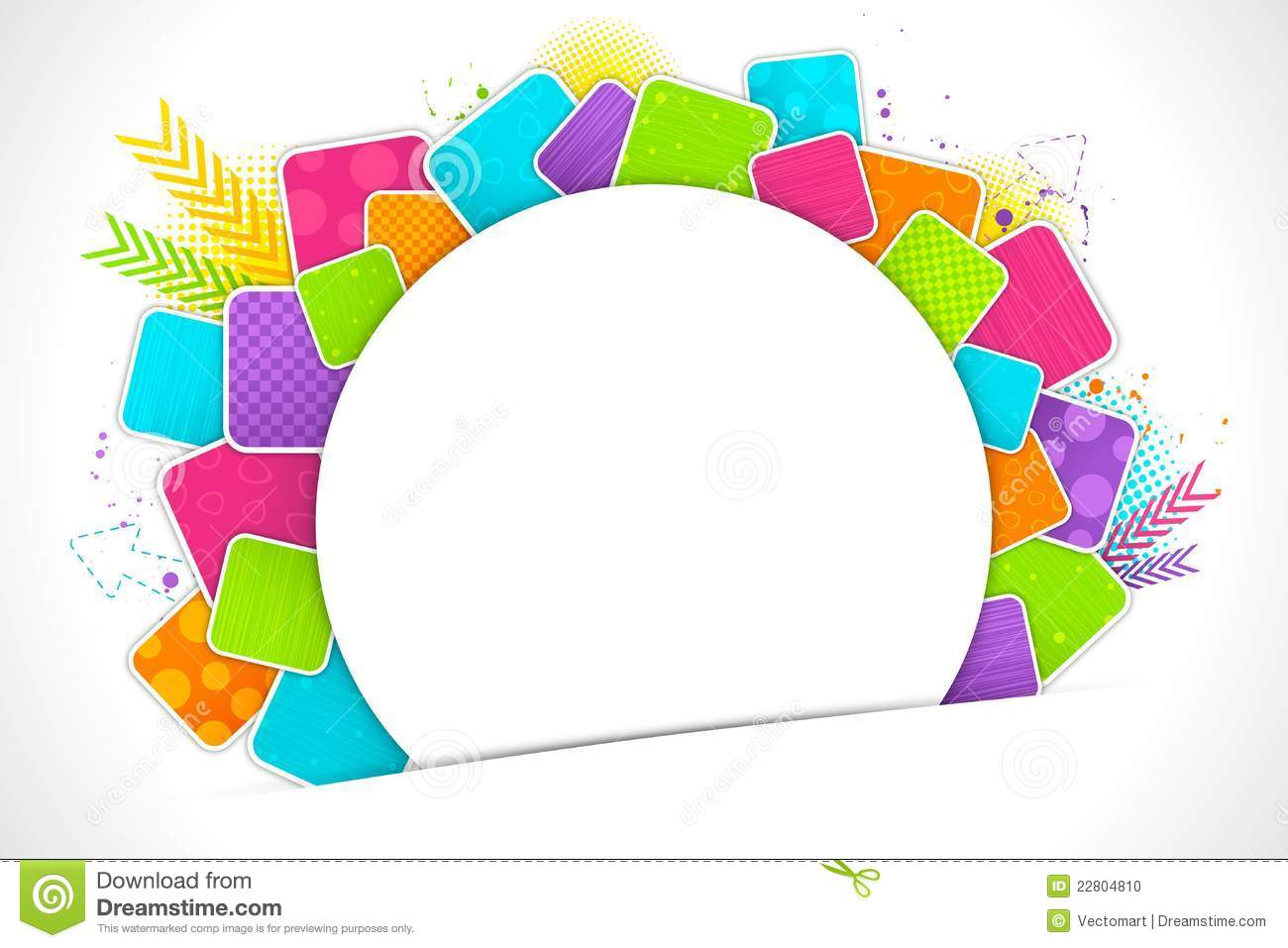 Color Abstract Vector Background Text Frame Stock Vector: Colorful Abstract Background Stock Vector