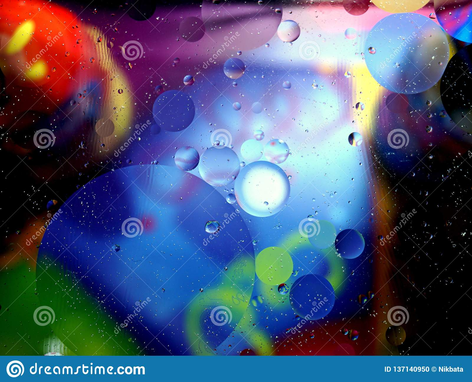 Colorful abstract background from many bubbles