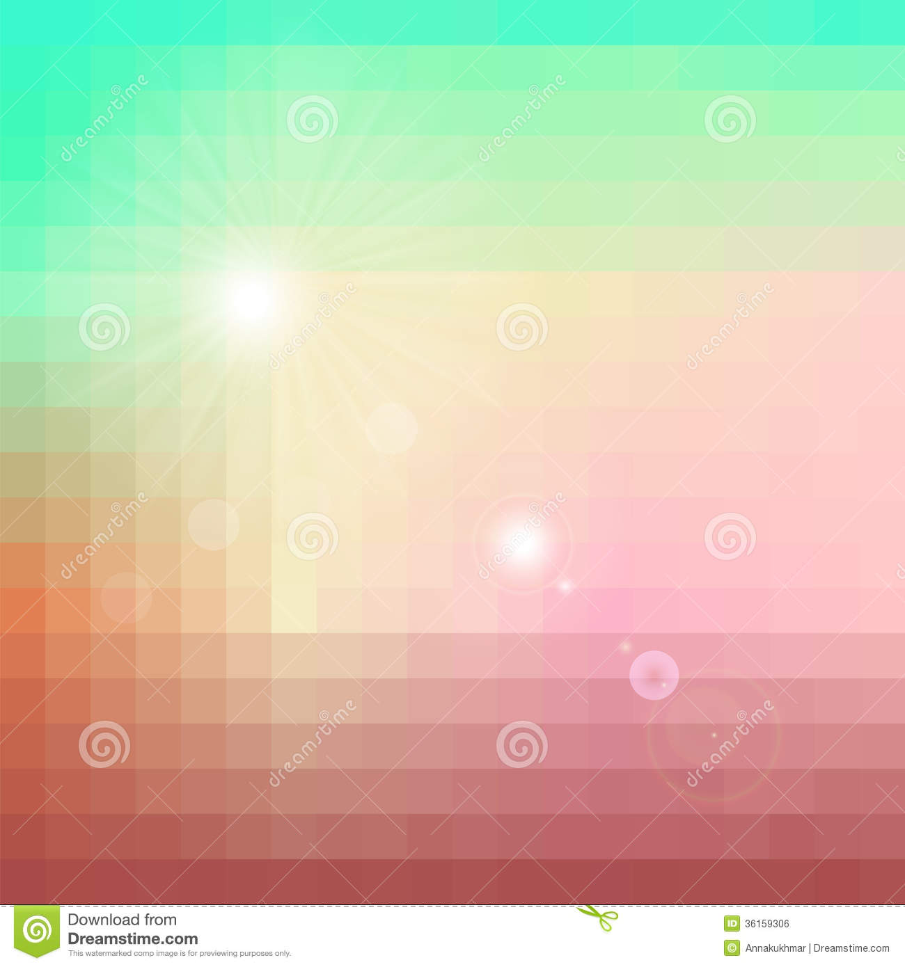 Abstract retro geometric background with place for your text colorful - Colorful Abstract Background With Sun Flare Royalty Free