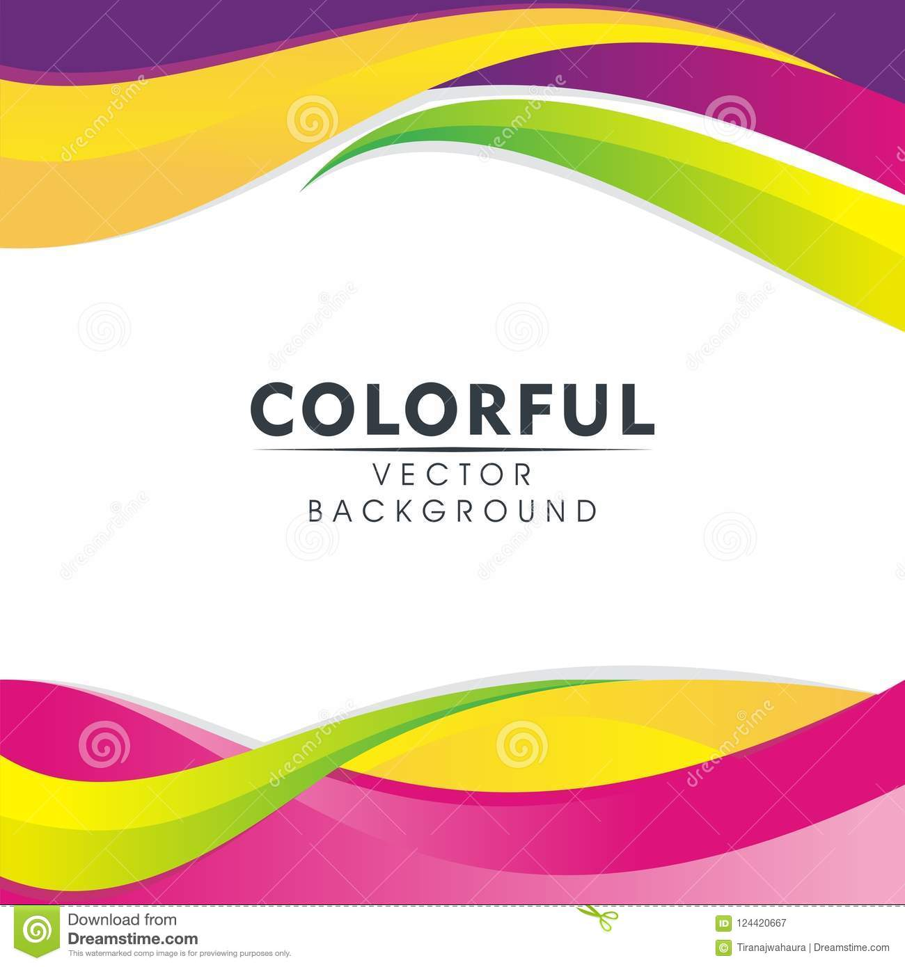 Colorful Abstract Background With Wavy Style Design Stock