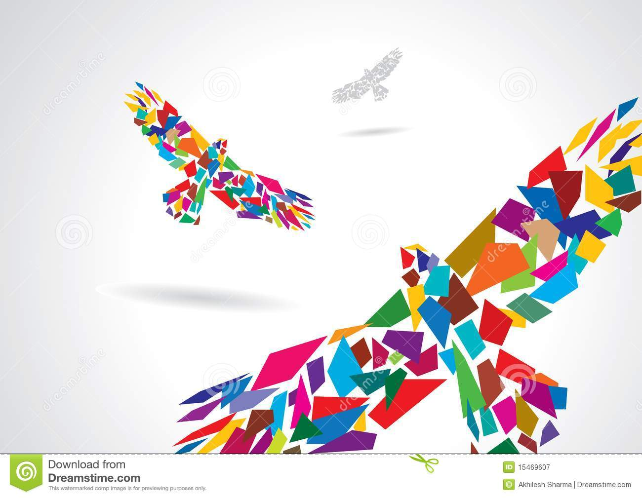 Colorful Abstract Bird Flying Royalty Free Stock Photography - Image ...