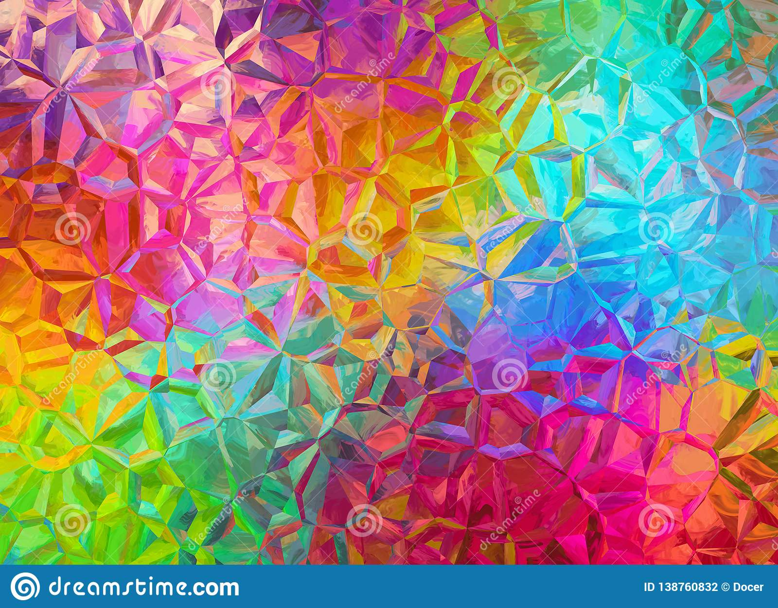 Colorful Crystal Background Texture Stock Illustration Illustration Of Backgrounds Shapes 138760832