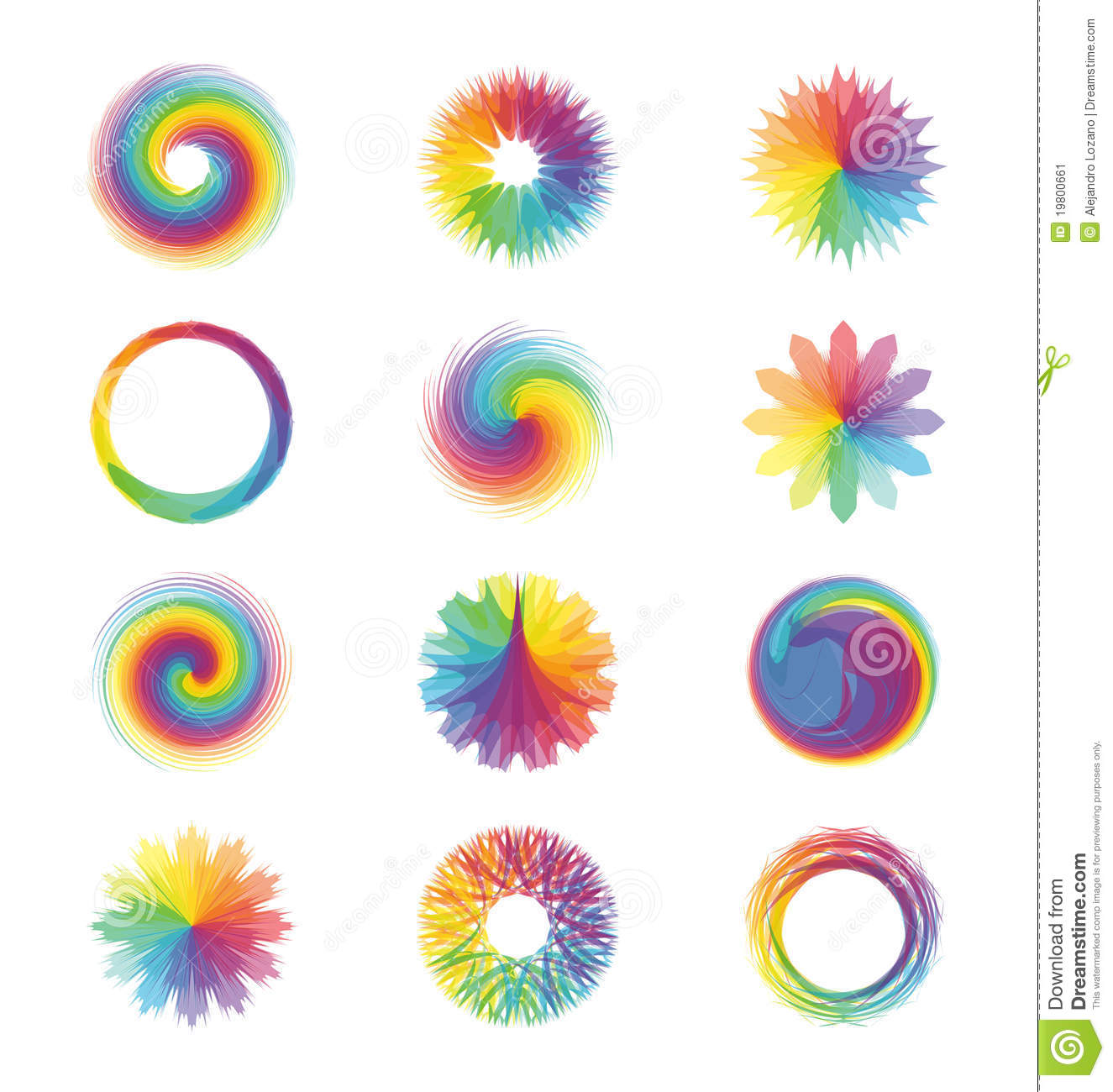 Colorful Abstract Designs Stock Image Image 19800661