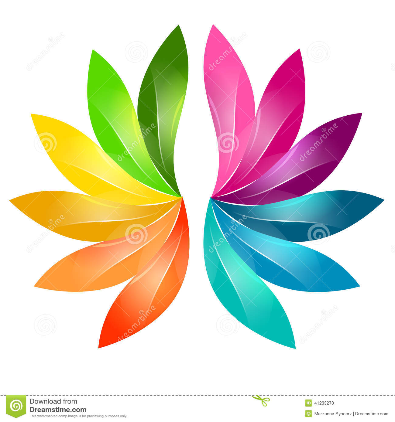 colorful abstract floral design stock vector illustration of
