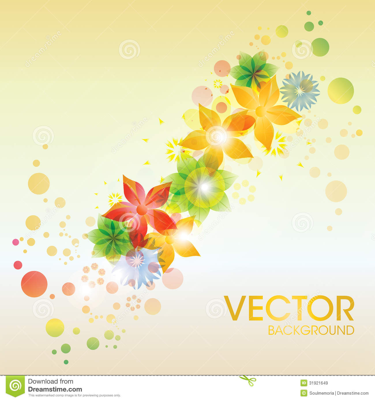 Colorful abstract design background vector art free vector - Royalty Free Stock Photo Download Colorful Abstract Flower Vector Background