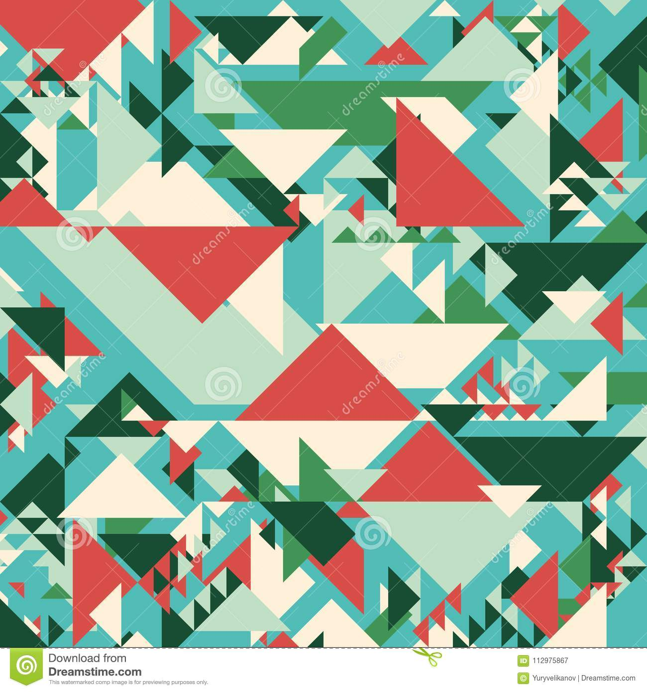 Abstract geometric background. Modern overlapping large and small triangles.
