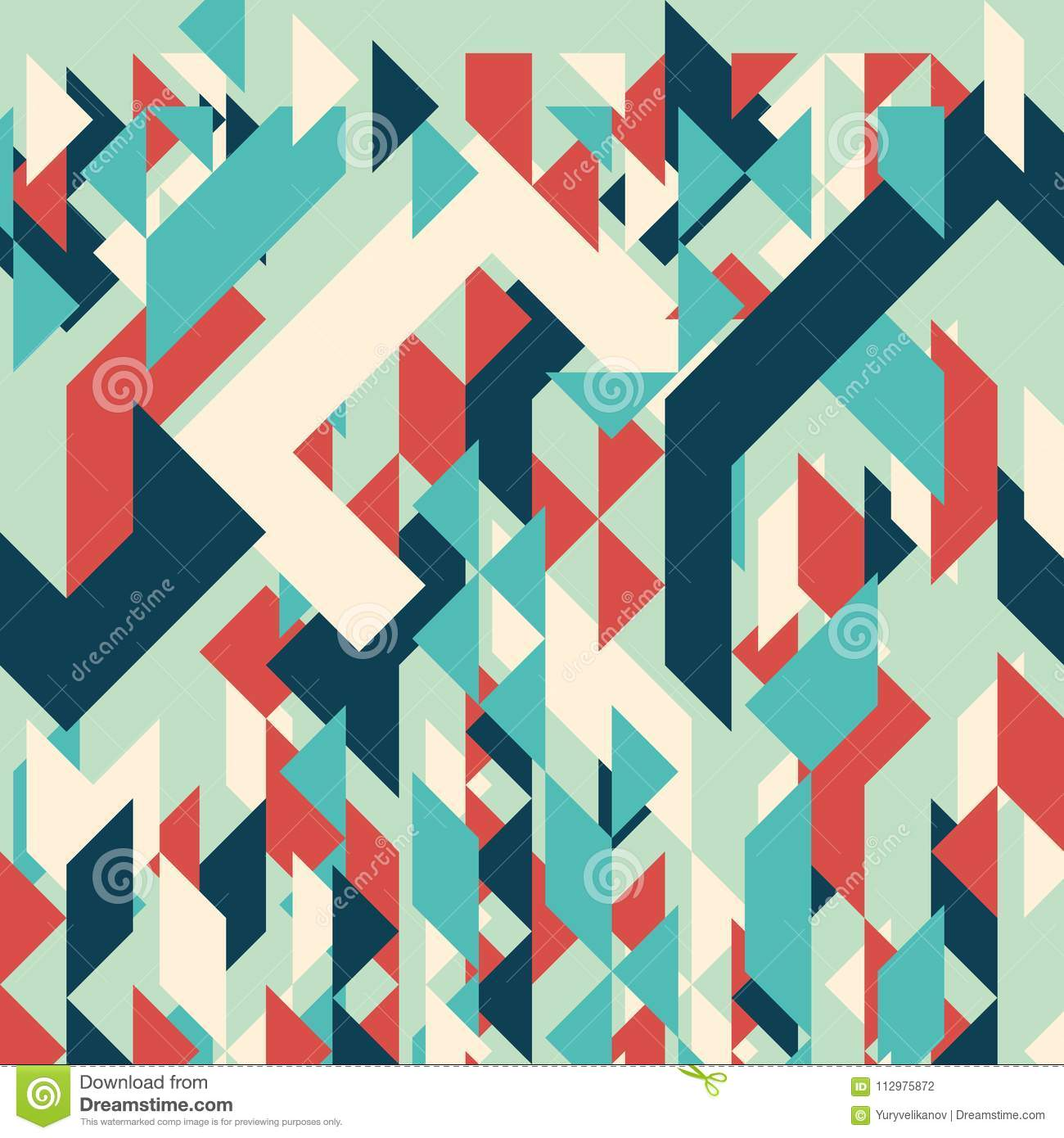 Abstract geometric background. Modern overlapping small triangles.