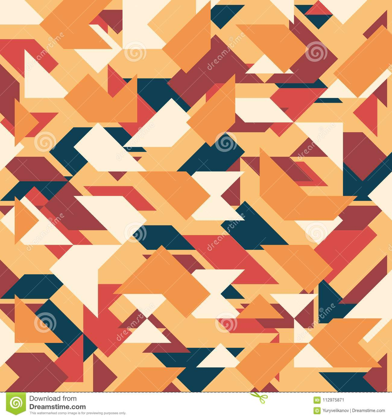 Abstract geometric background. Retro overlapping triangles and rhombuses.
