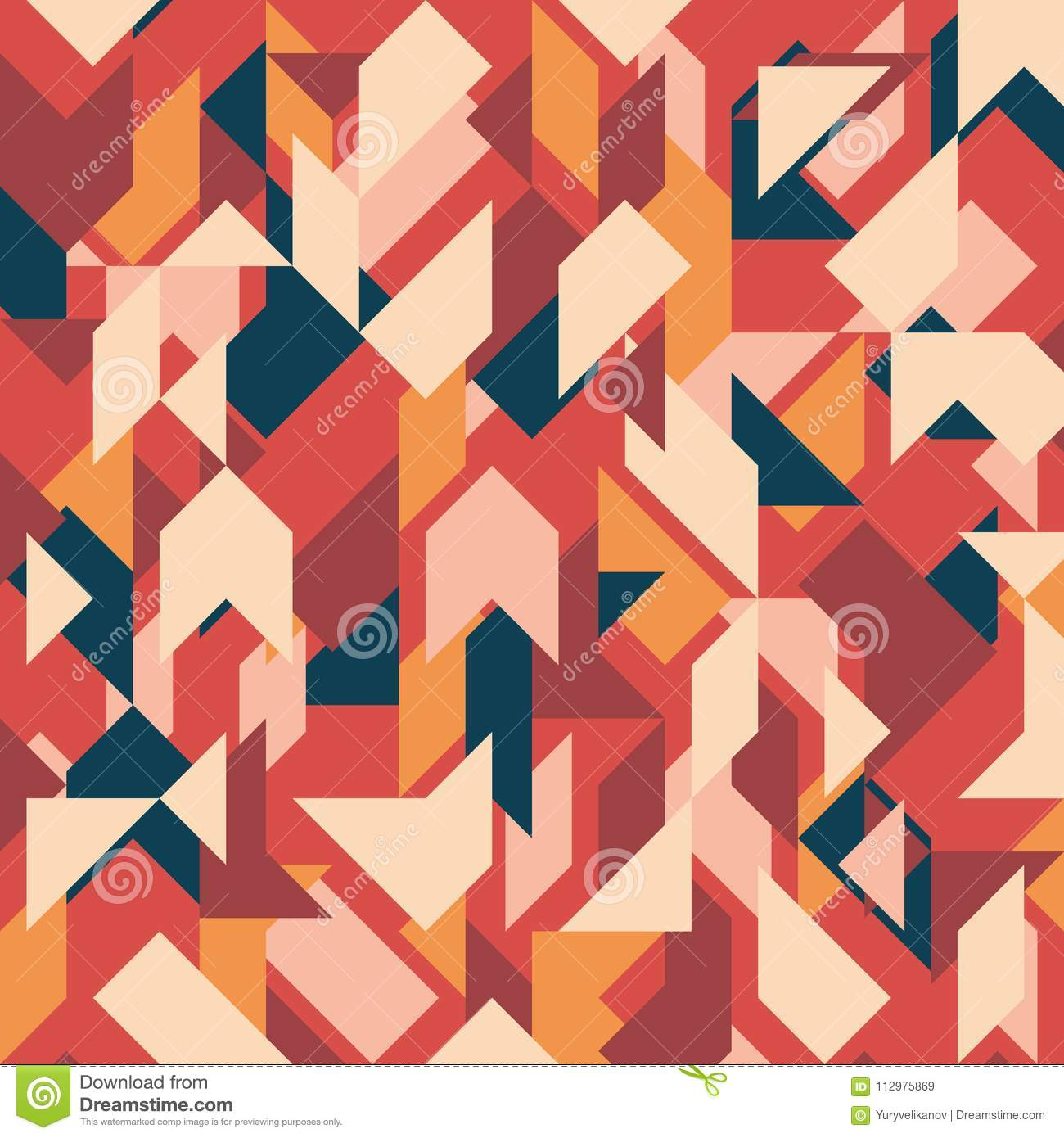 Abstract geometric background. Vintage overlapping rectangles and triangles.