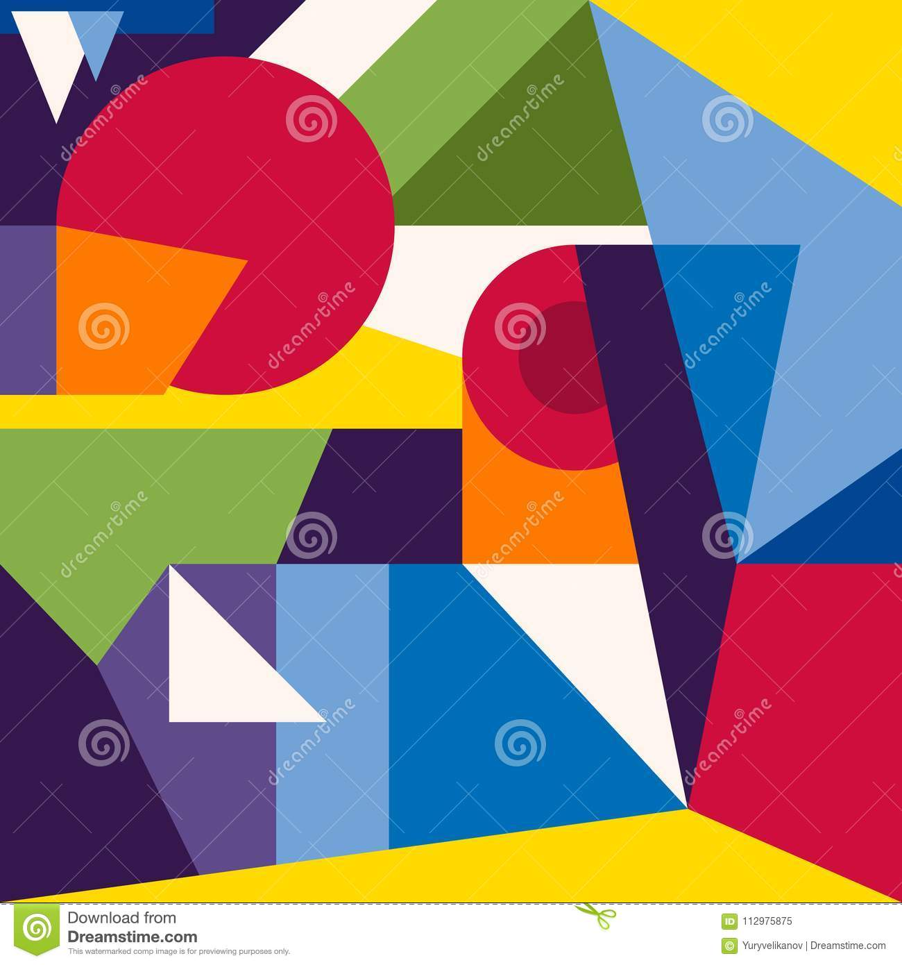 Abstract modern geometric background. Composition 1