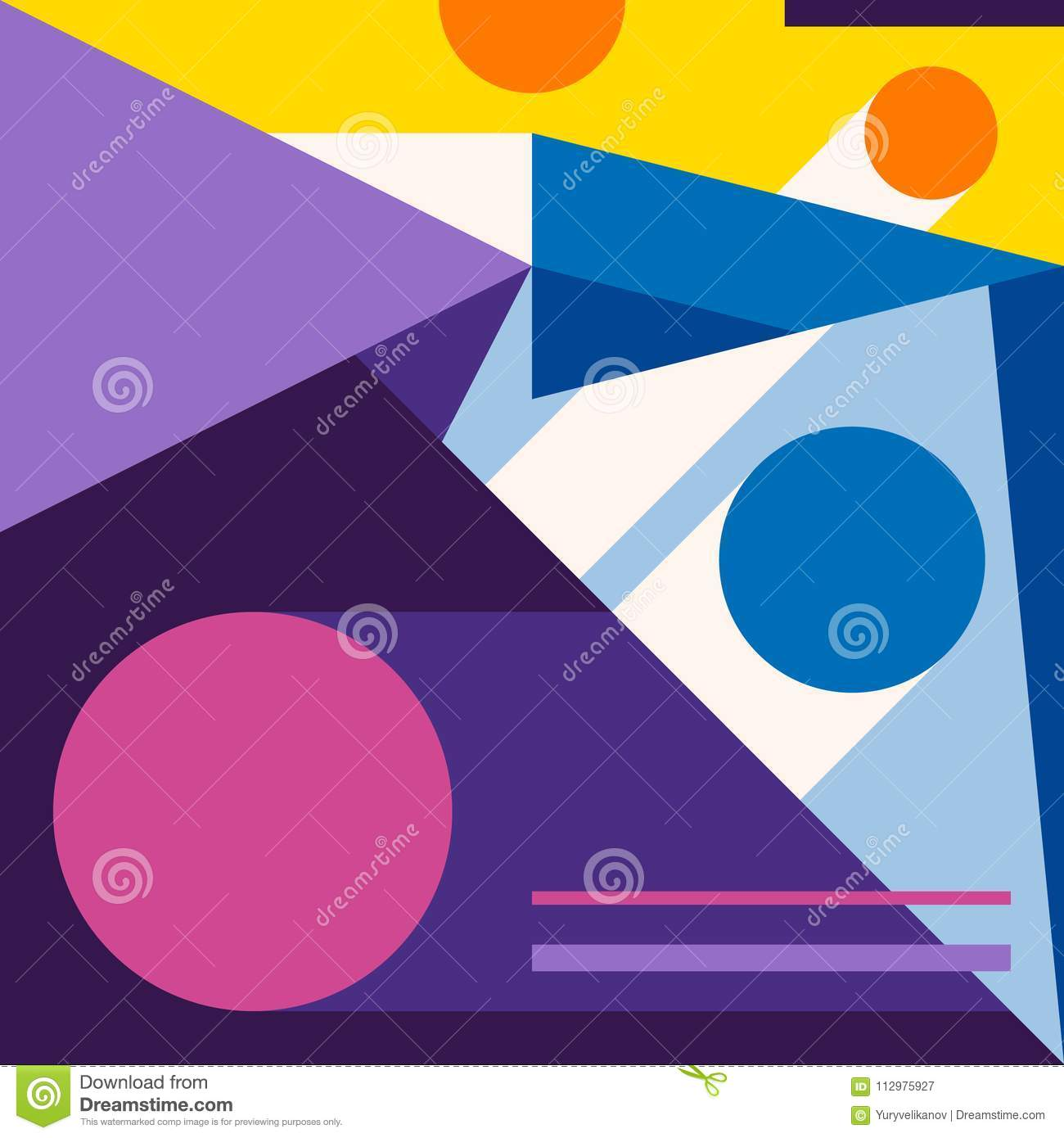 Abstract modern geometric background. Composition 10