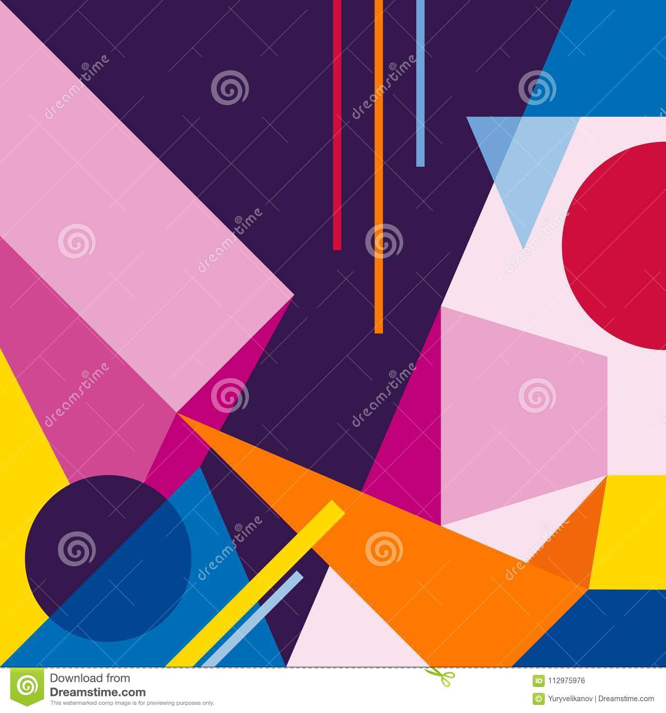 Abstract modern geometric background. Composition 3