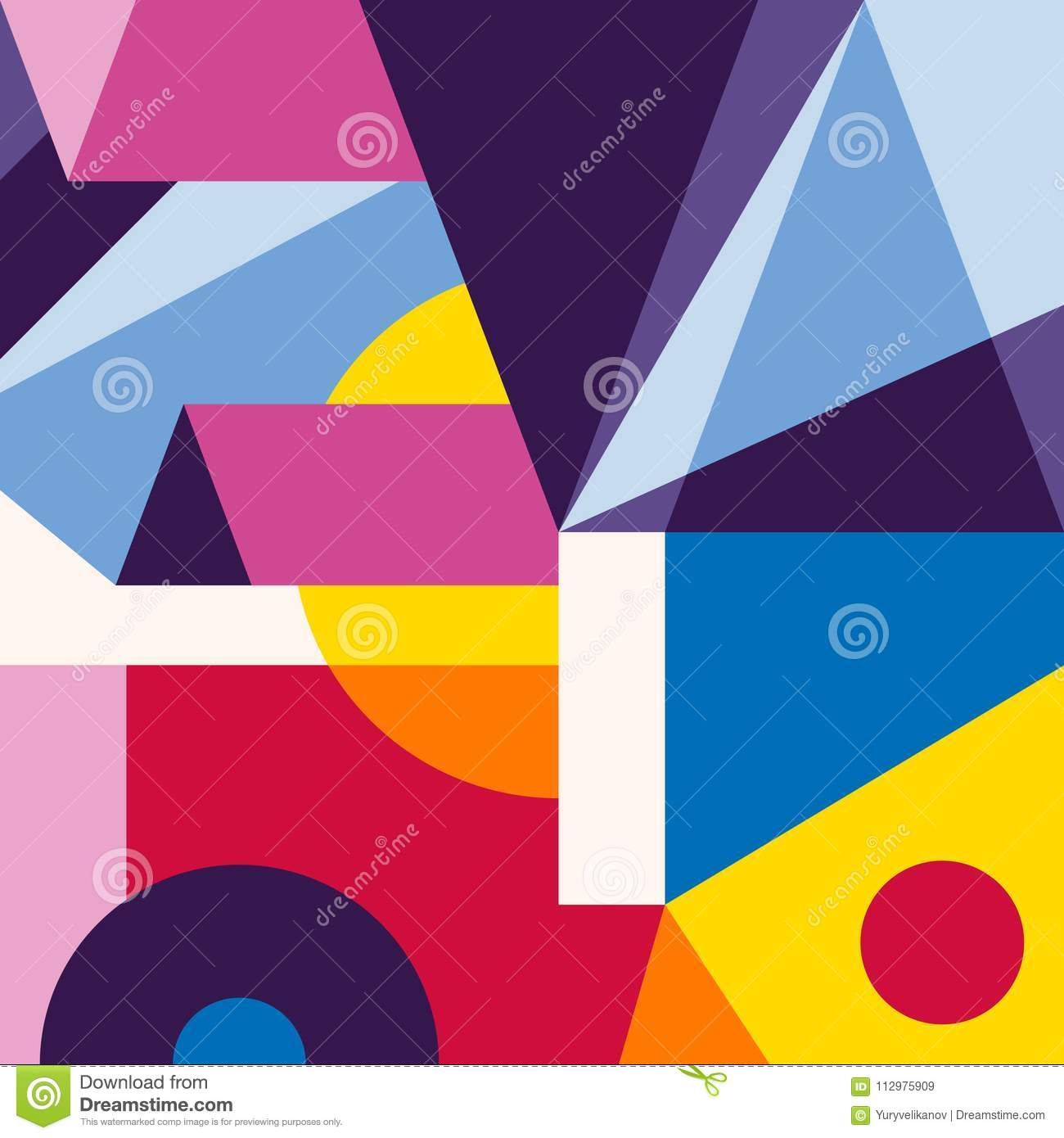 Abstract trendy modern geometric background. Composition 4