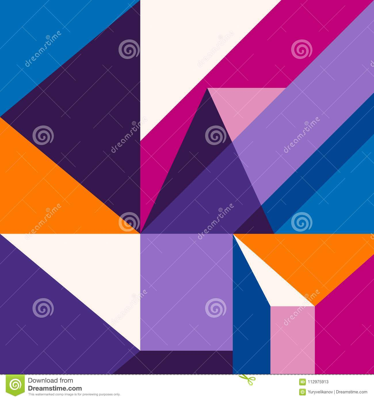 Trendy abstract modern geometric background. Composition 5