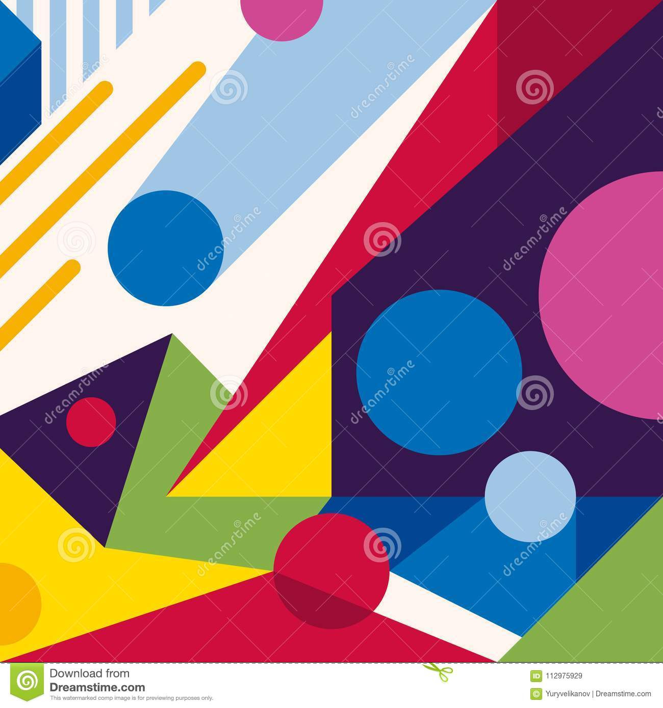 Abstract modern geometric background. Composition 11
