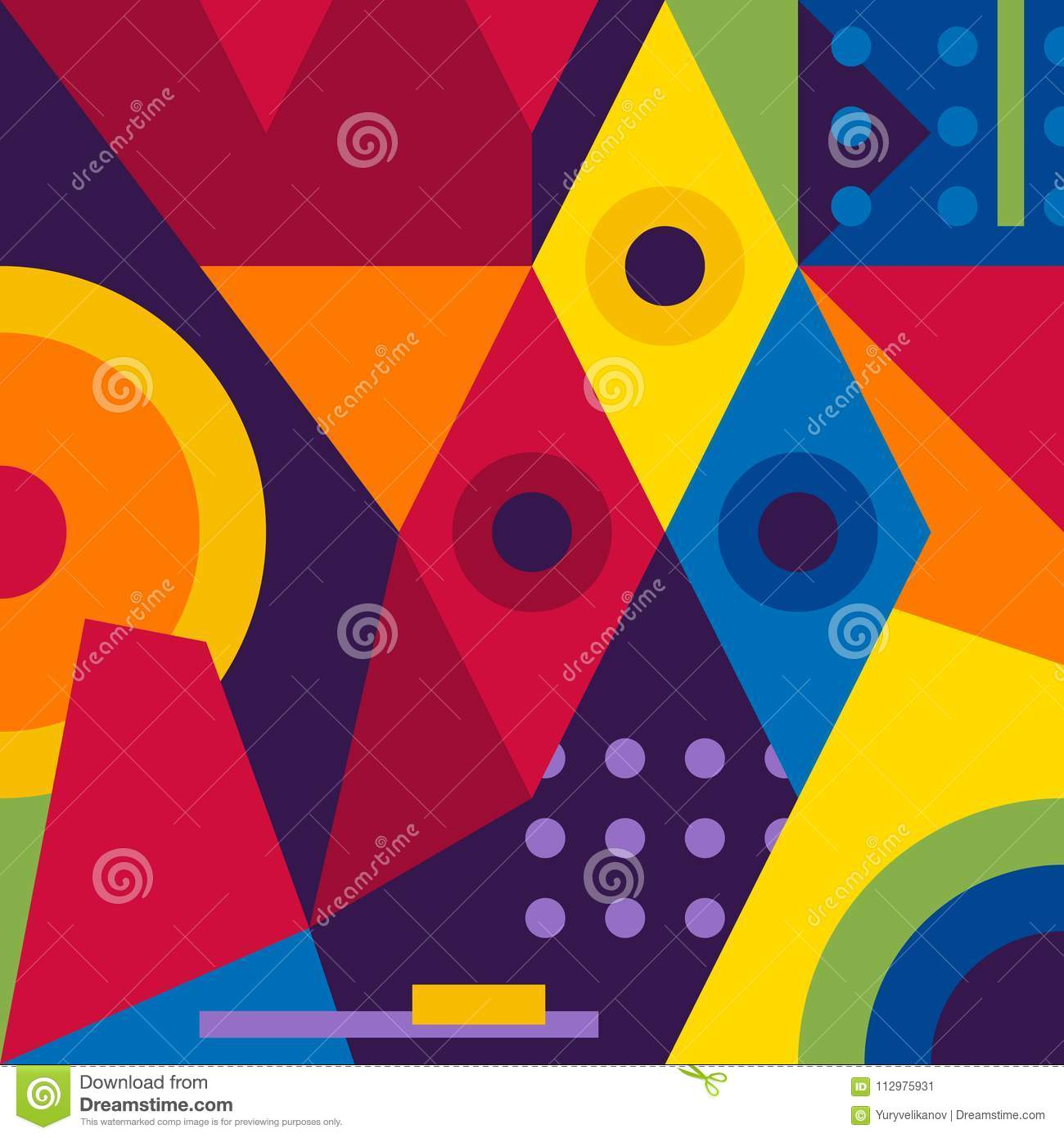 Abstract modern geometric background. Composition 16