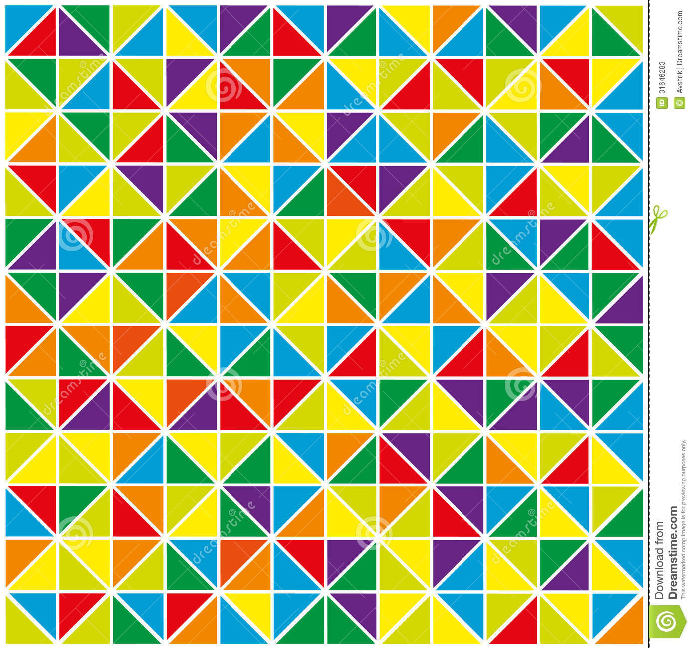 Colorful Abstract Geometric Background Stock Vector