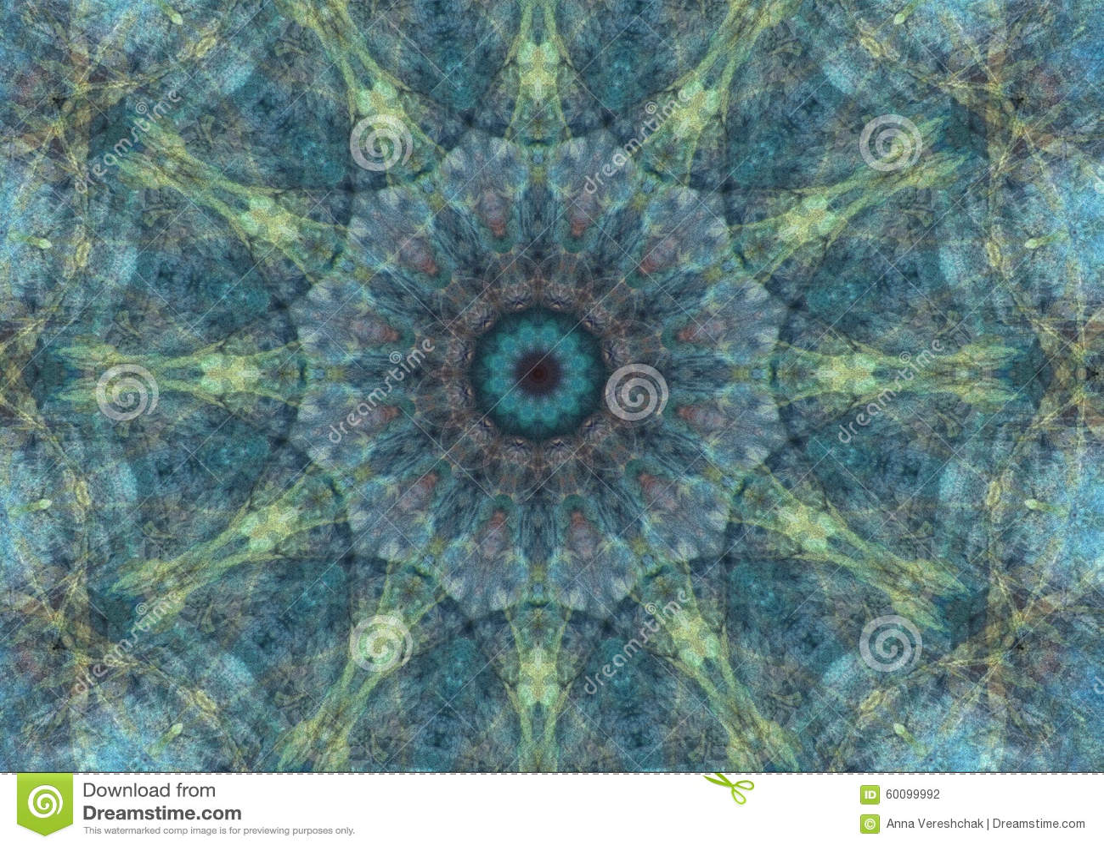 Colorful Abstract Mandala Background Ethnic Motifs Stock