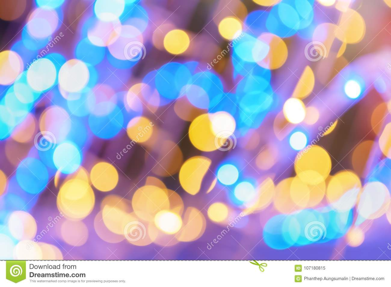 Abstract night lights bokeh background