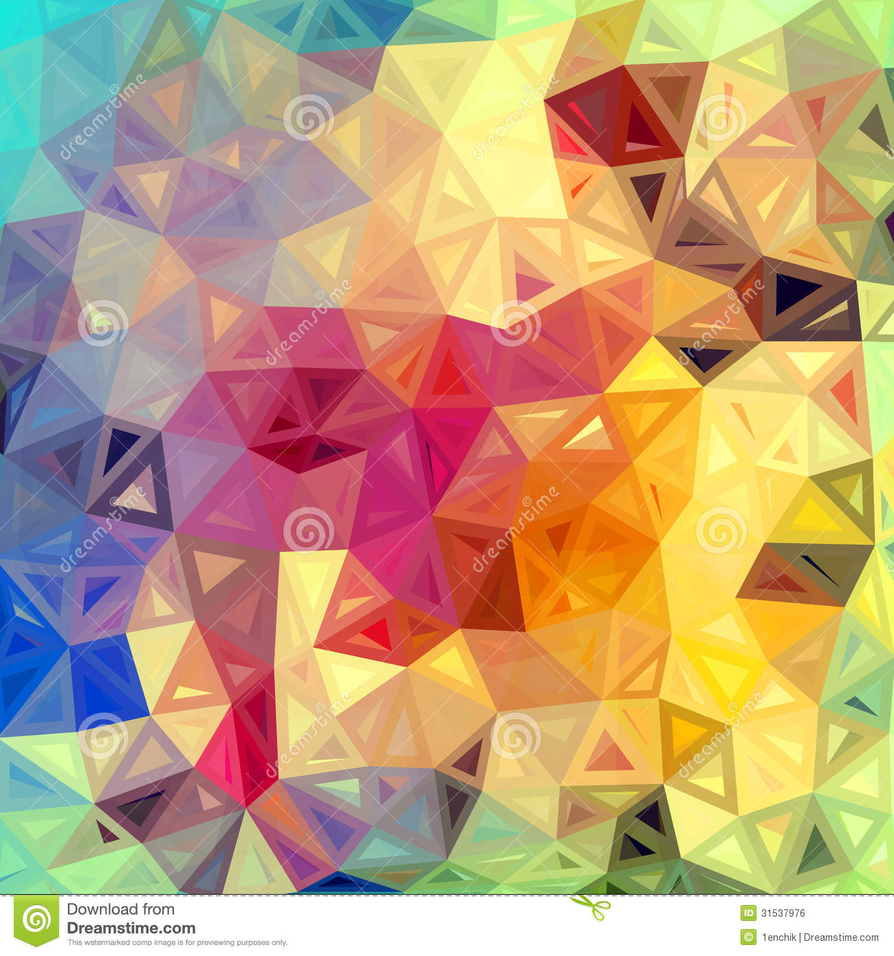 Colorful Abstract Triangles Vector Background Royalty Free
