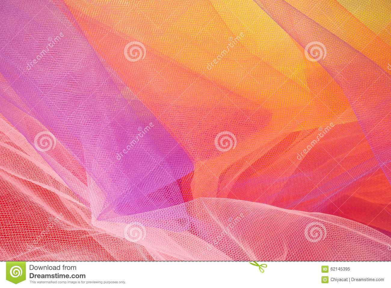 Colorful Abstract Tulle Background and Textures #1