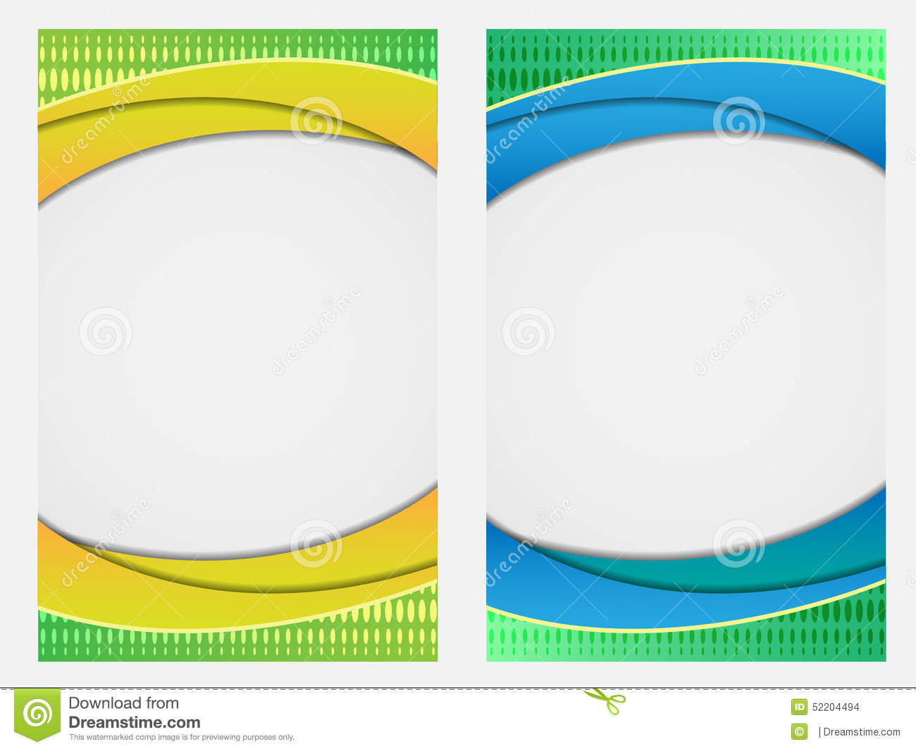 colorful abstract waves empty brochure    booklet    book
