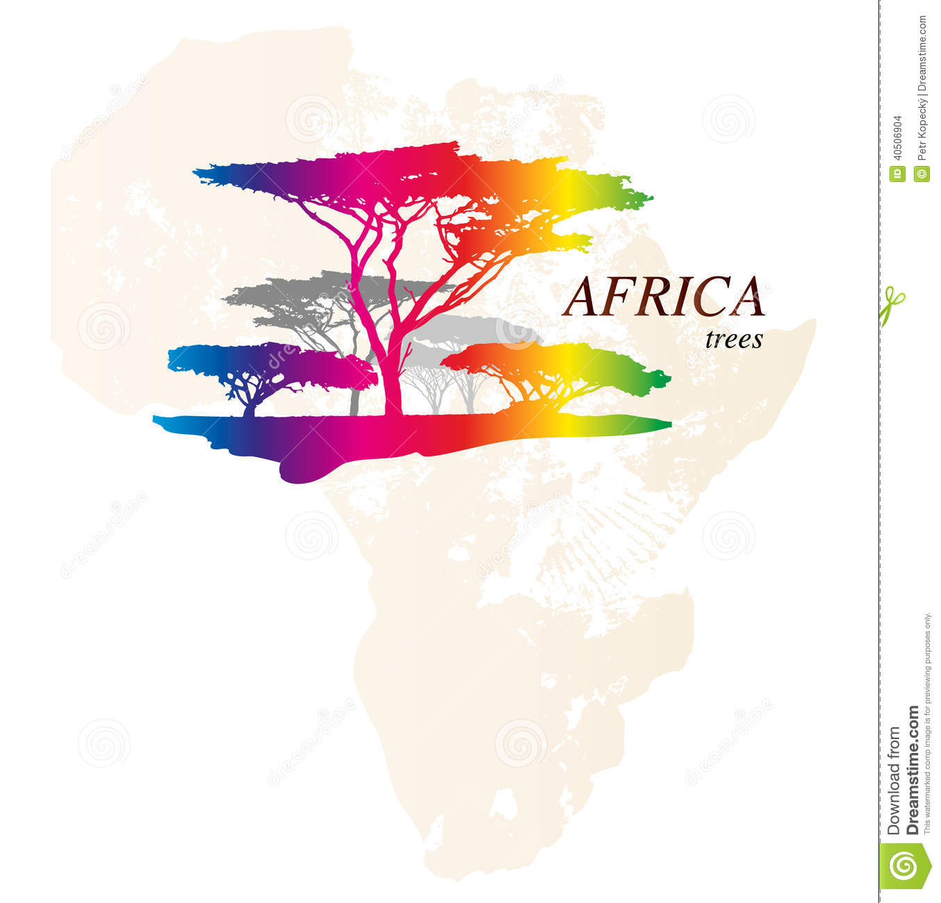 Colourful Africa Map Logo: Colorful Africa Map Stock Illustration