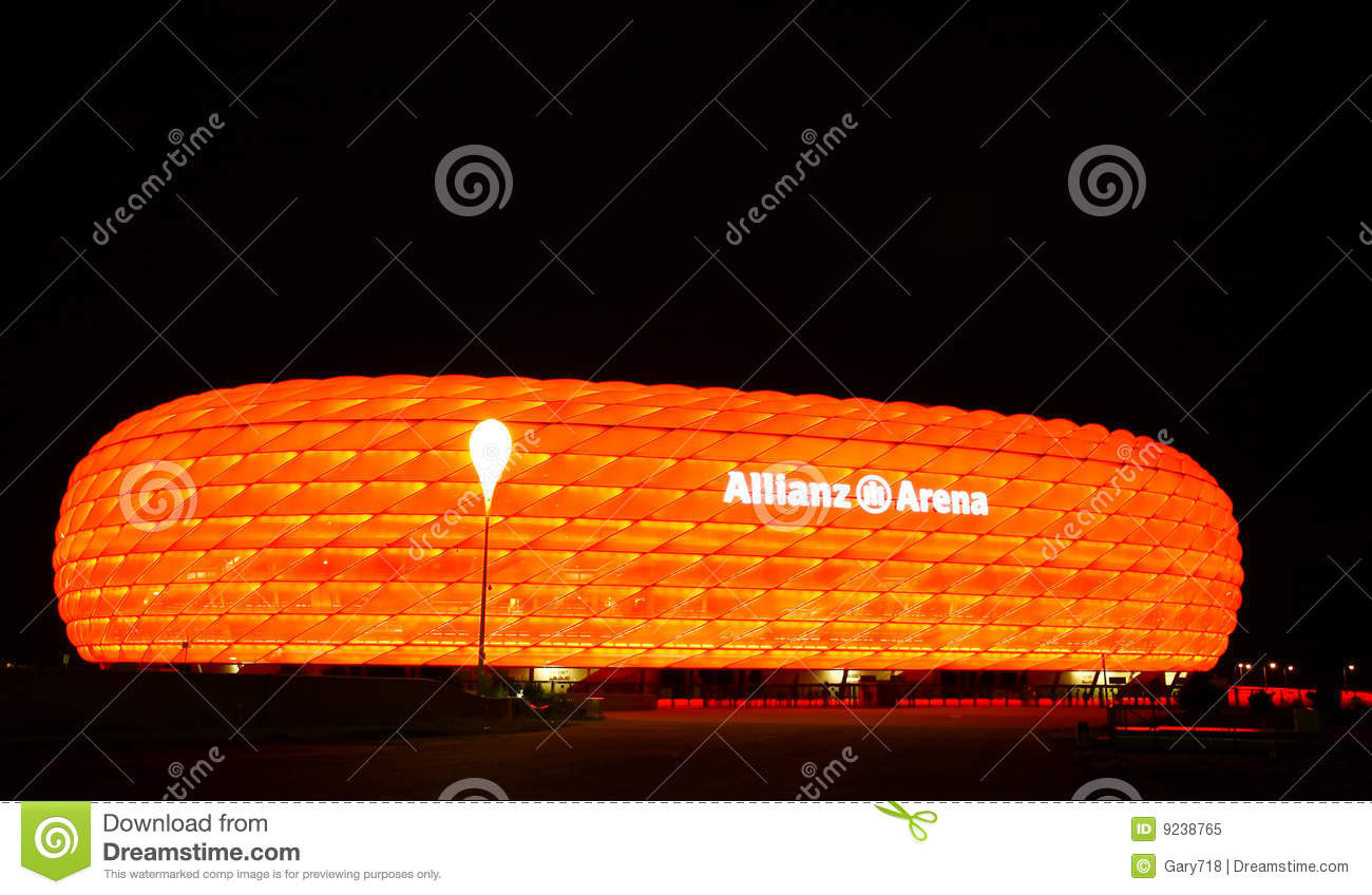 The Colorful Allianz Arena In Munich Editorial Image