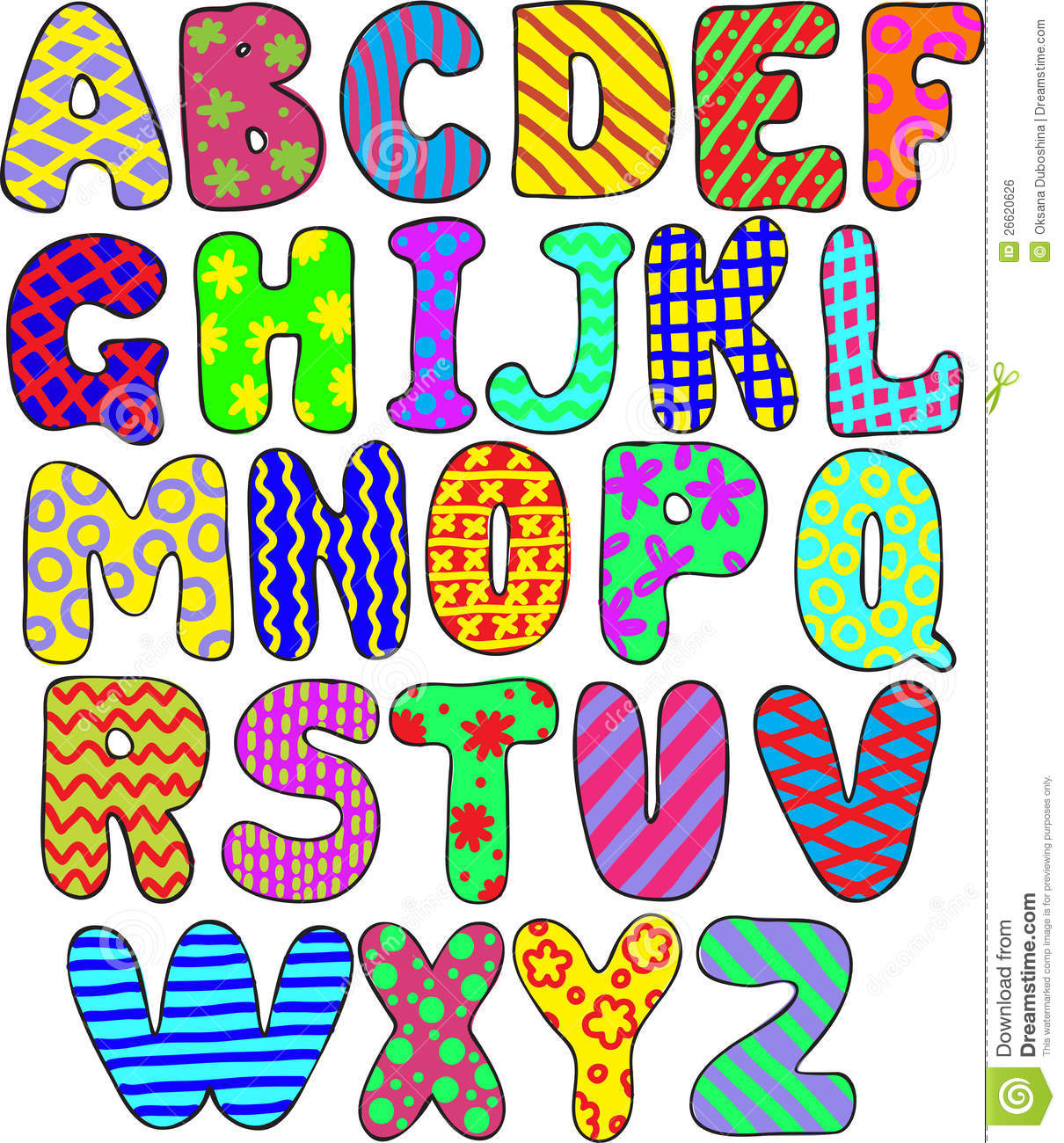 Colorful alphabet royalty free stock image image 26620626 for Alphabet photo letters