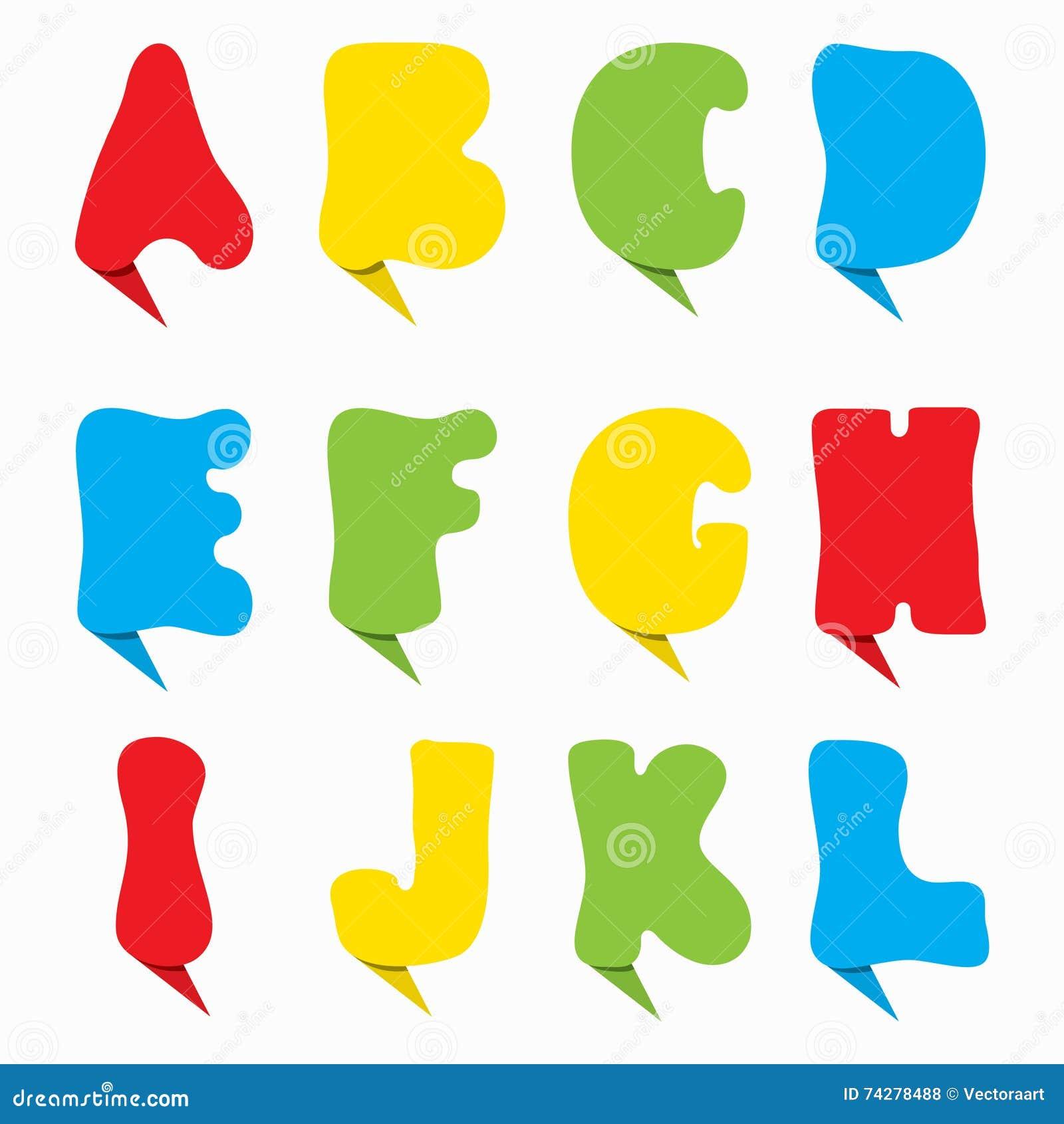 Colorful Alphabet Design Stock Vector Illustration Of Education