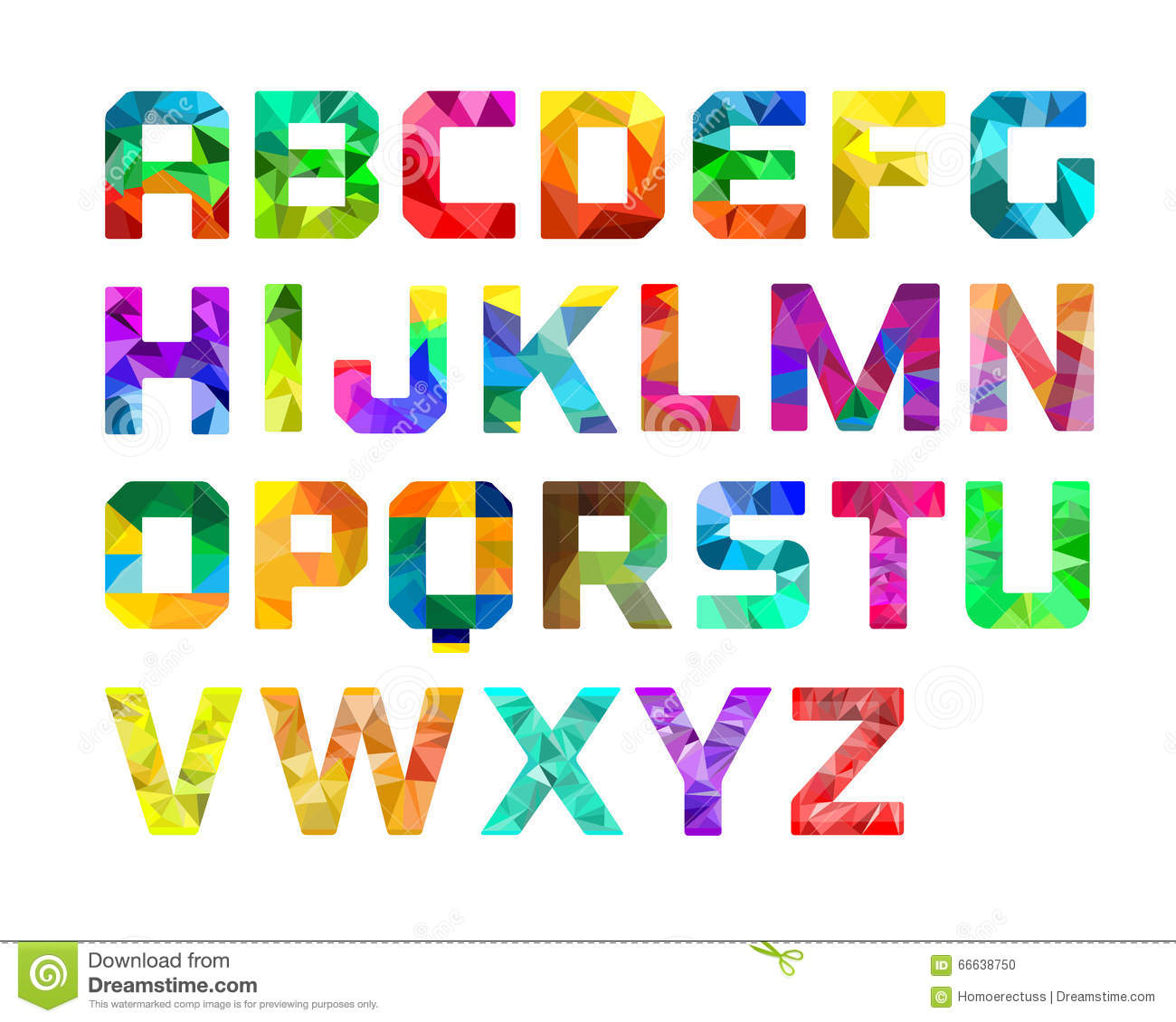 Colorful Alphabet Graphic Design Stock Vector - Image: 66638750