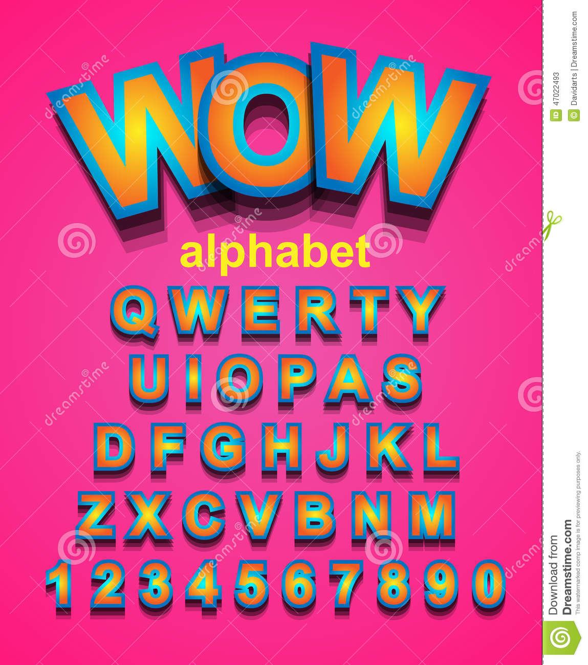 Colorful Alphapet Font To Use For Children's Parties