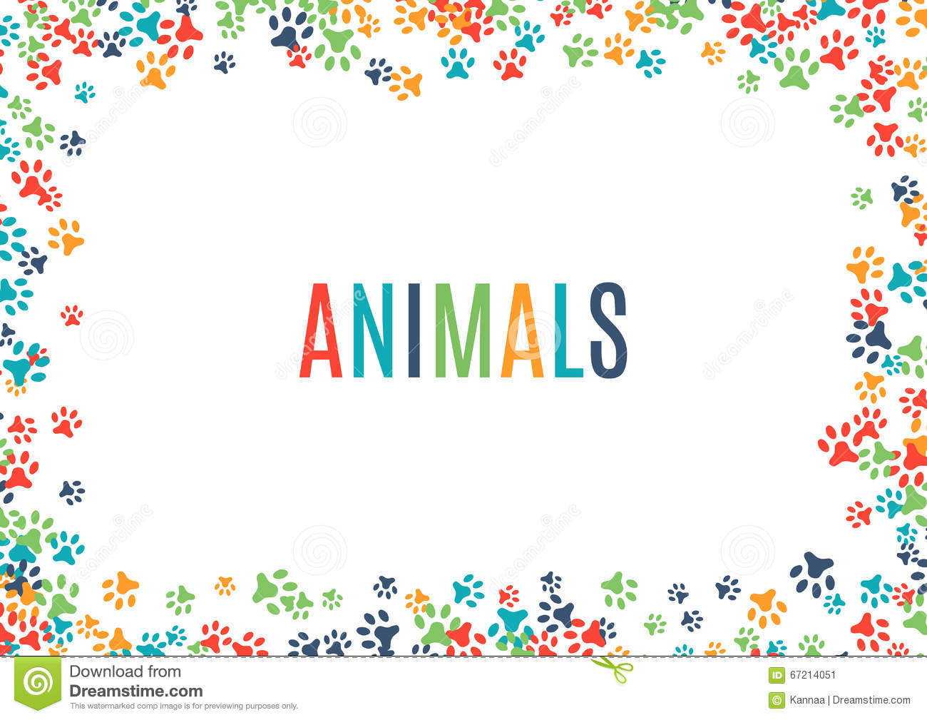 White Backgrounds With Colorful Borders Colorful Animal...