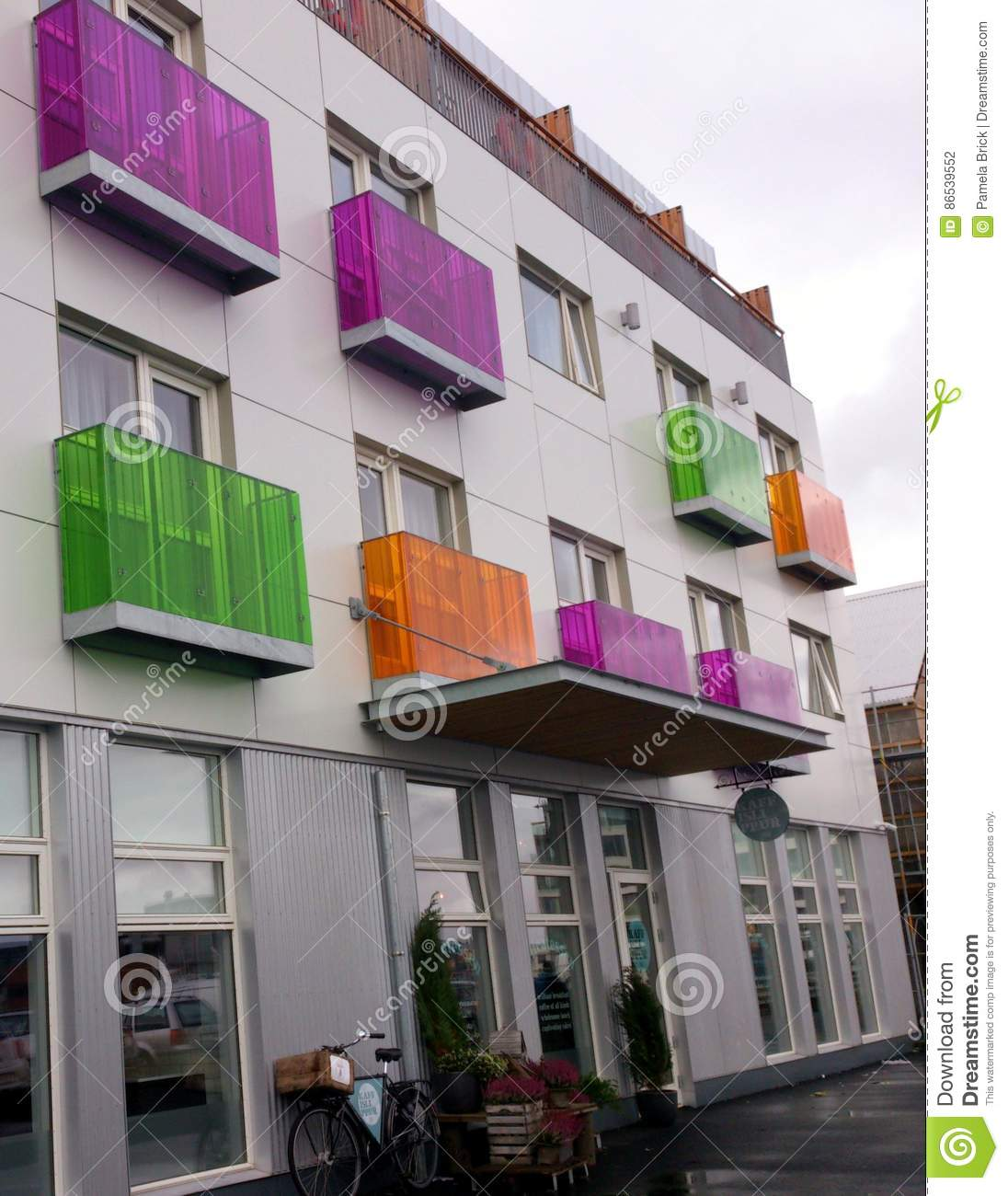 Colorful Apartment Building in Reykjavík Iceland