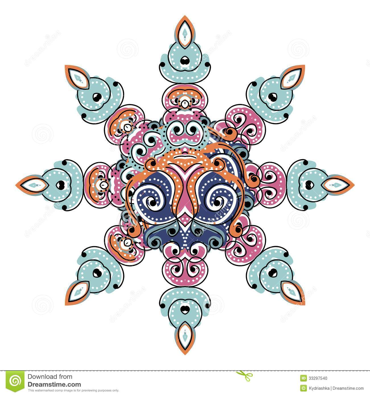 Colorful arabesque ornament for your design stock photo for Arabesque style decoration
